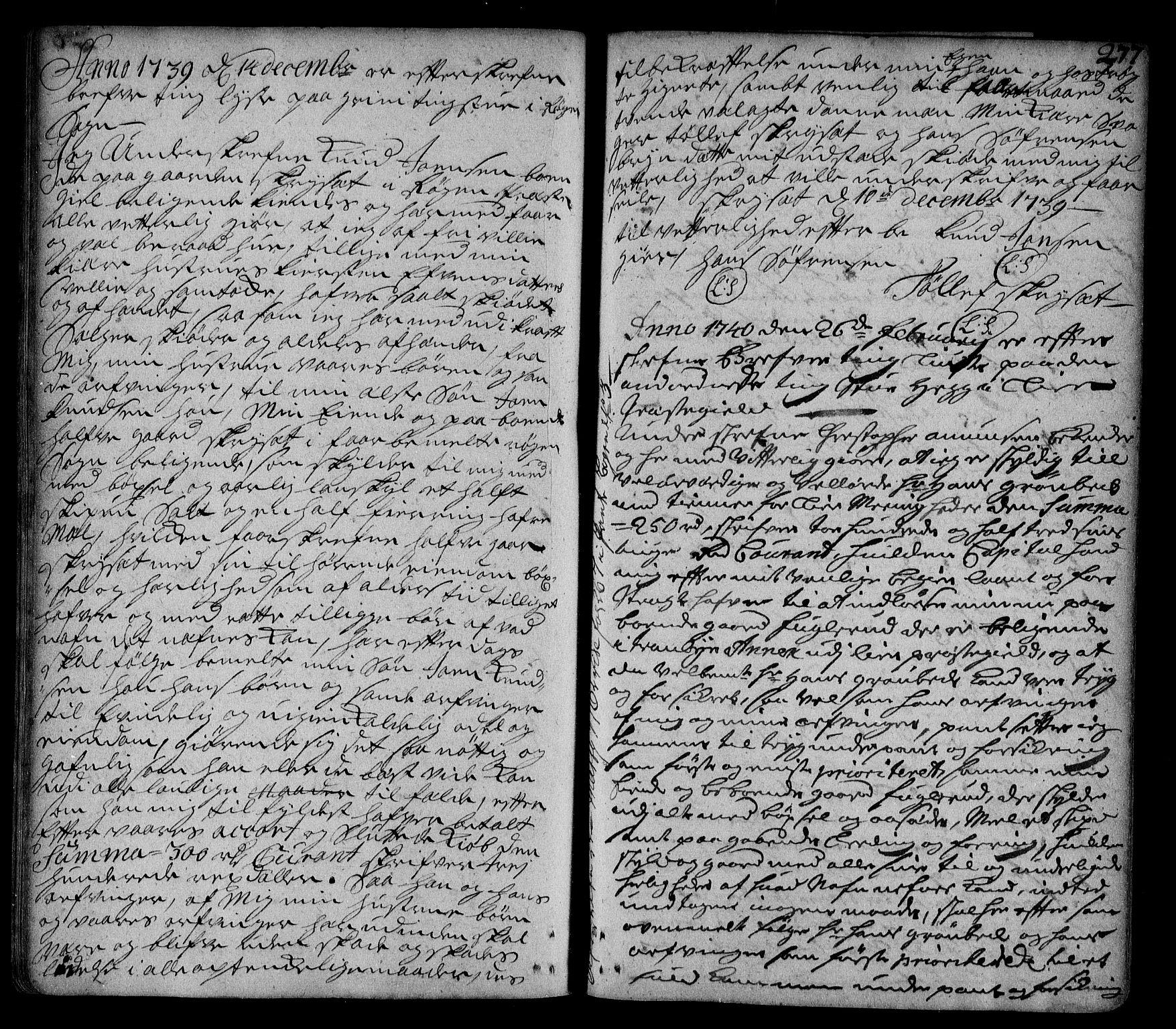 SAKO, Lier, Røyken og Hurum sorenskriveri, G/Ga/Gaa/L0002: Pantebok nr. II, 1725-1755, s. 277