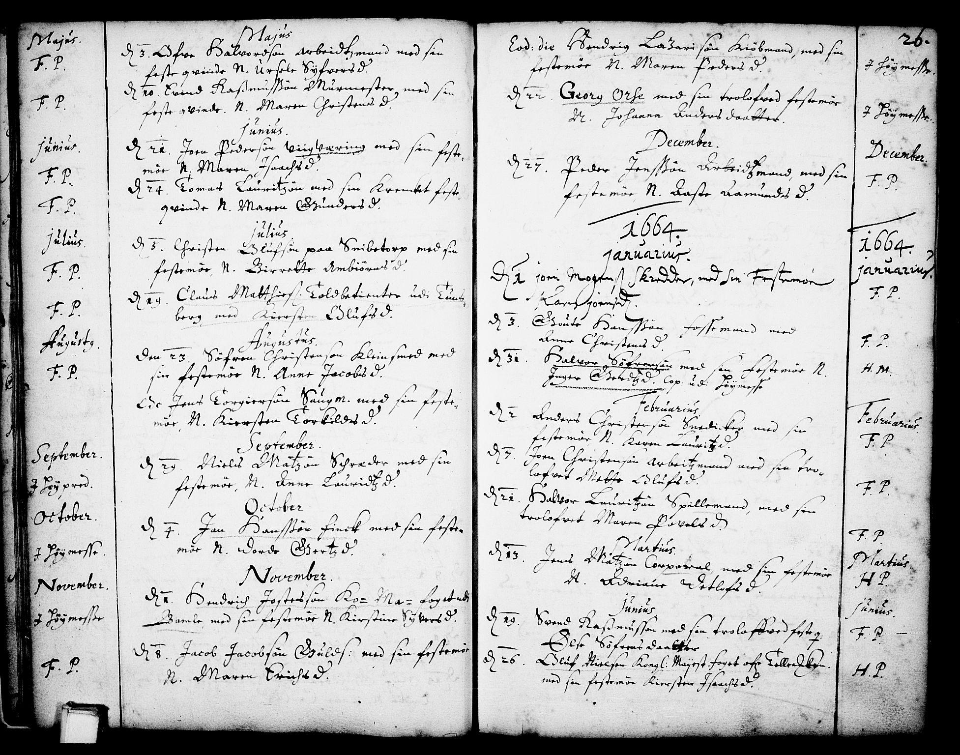 SAKO, Skien kirkebøker, F/Fa/L0001: Ministerialbok nr. 1, 1659-1679, s. 26