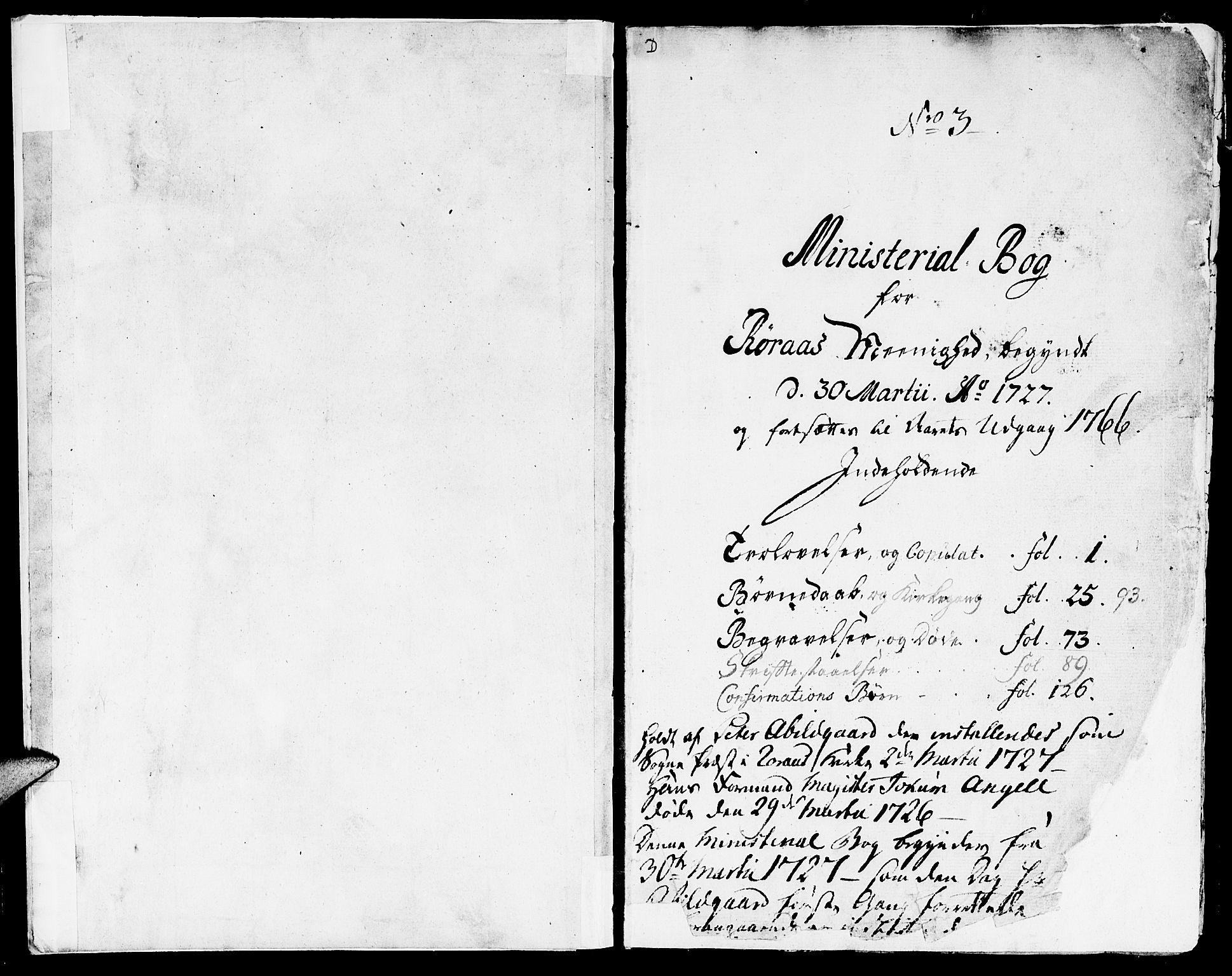 SAT, Ministerialprotokoller, klokkerbøker og fødselsregistre - Sør-Trøndelag, 681/L0925: Ministerialbok nr. 681A03, 1727-1766