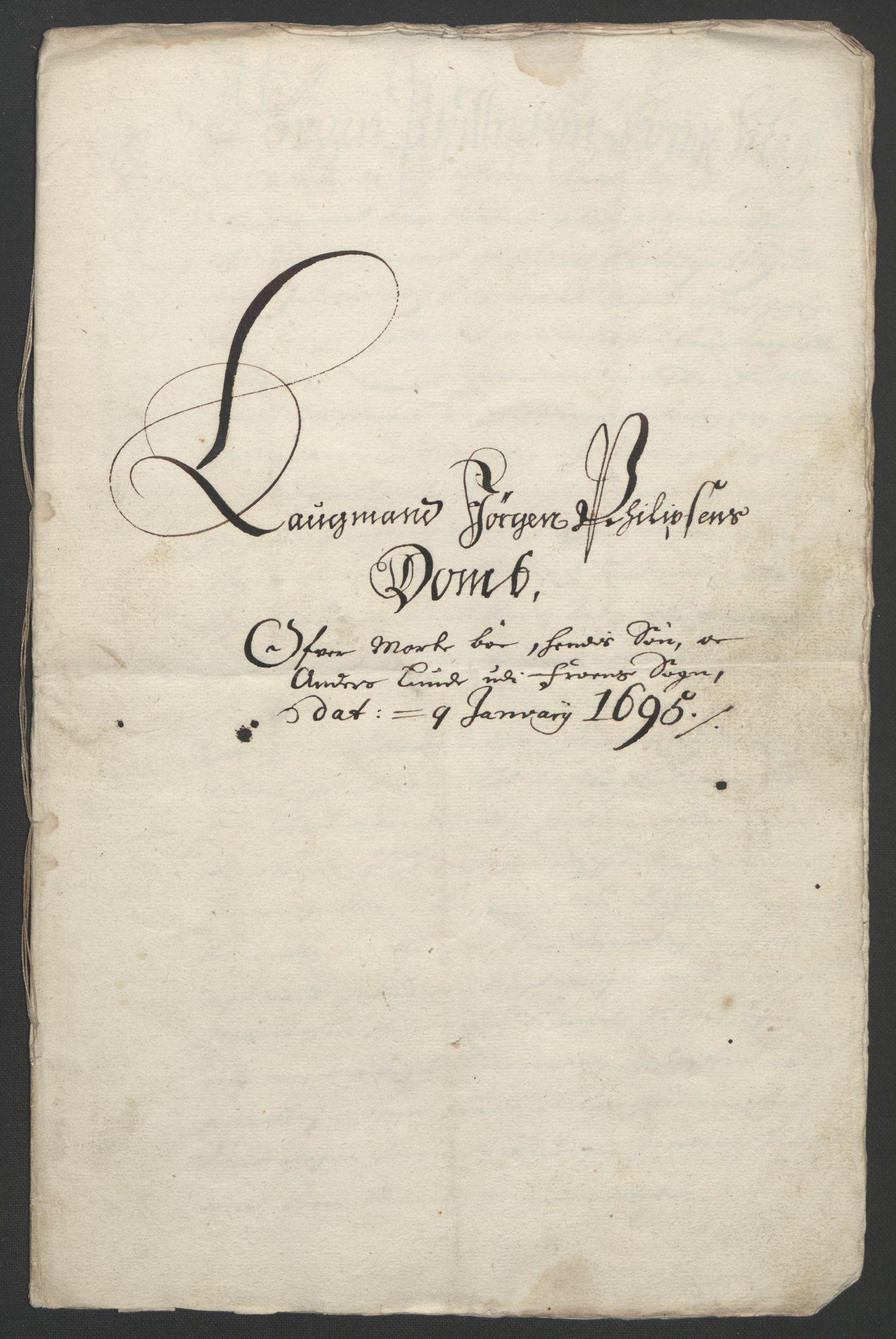 RA, Rentekammeret inntil 1814, Reviderte regnskaper, Fogderegnskap, R17/L1169: Fogderegnskap Gudbrandsdal, 1695, s. 166