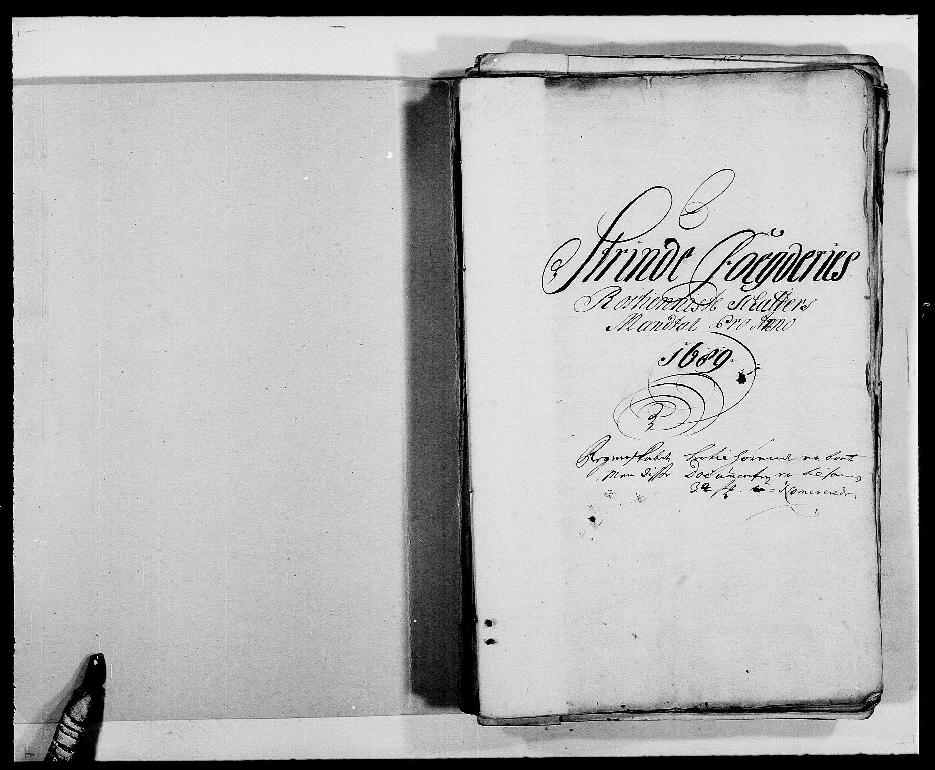 RA, Rentekammeret inntil 1814, Reviderte regnskaper, Fogderegnskap, R61/L4102: Fogderegnskap Strinda og Selbu, 1689-1690, s. 2
