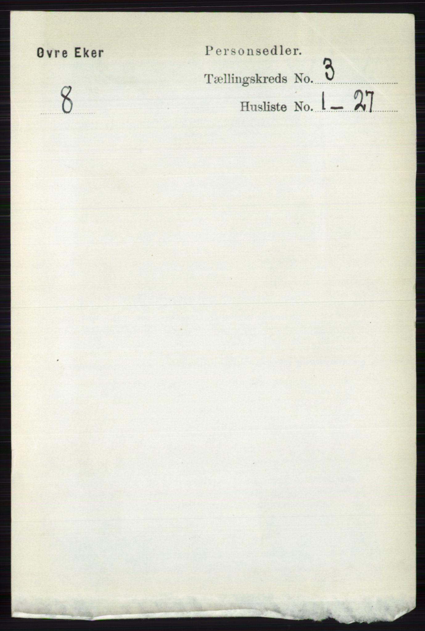 RA, Folketelling 1891 for 0624 Øvre Eiker herred, 1891, s. 989