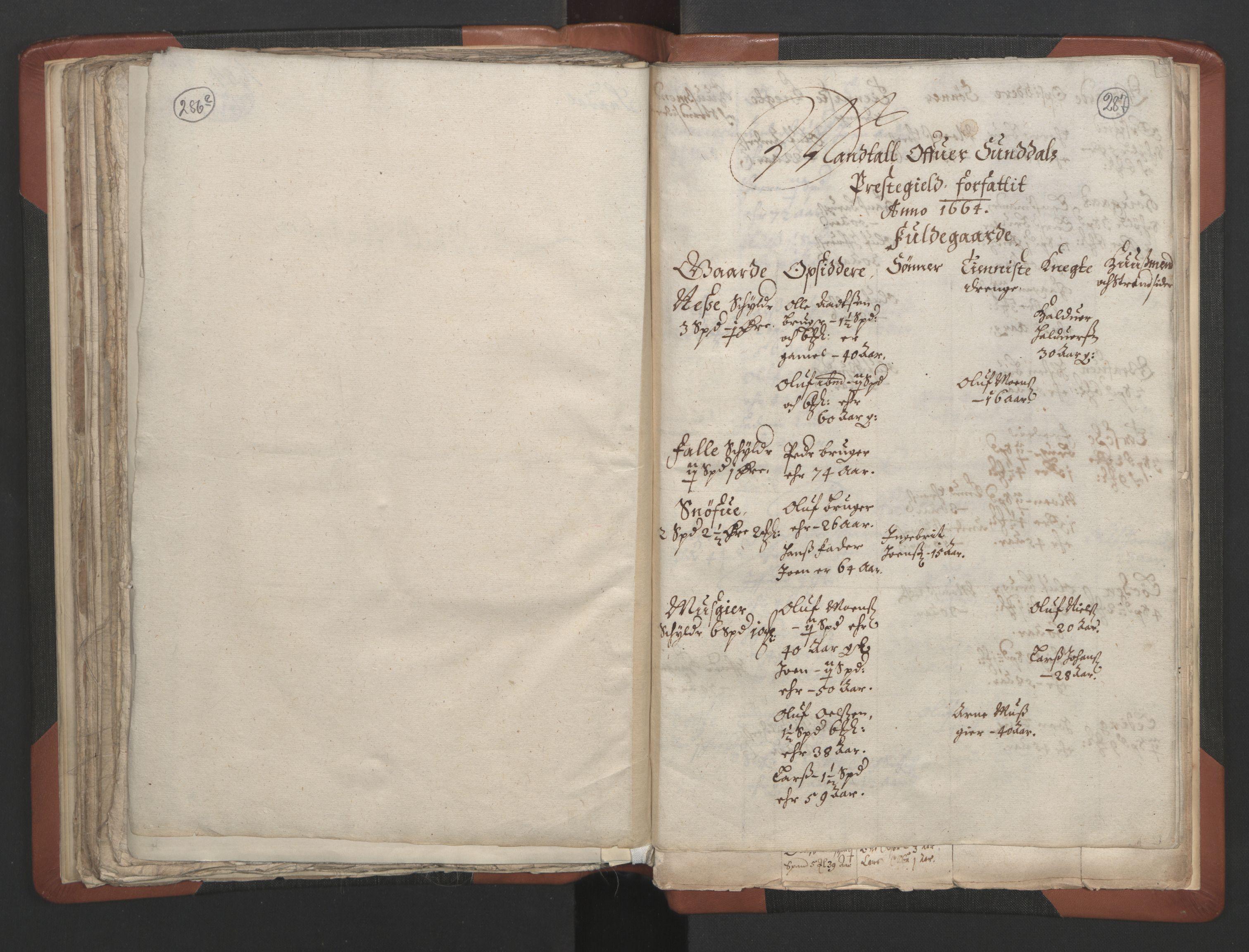 RA, Sogneprestenes manntall 1664-1666, nr. 28: Nordmøre prosti, 1664-1666, s. 286-287