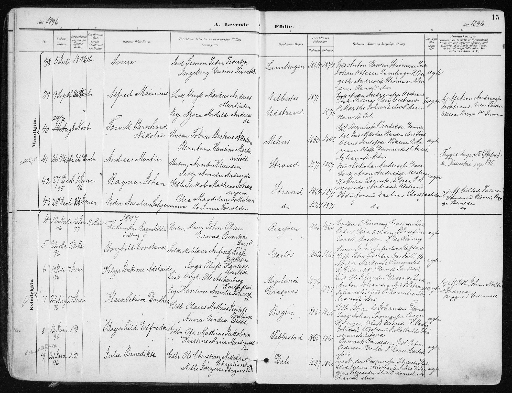 SATØ, Kvæfjord sokneprestkontor, G/Ga/Gaa/L0006kirke: Ministerialbok nr. 6, 1895-1914, s. 15
