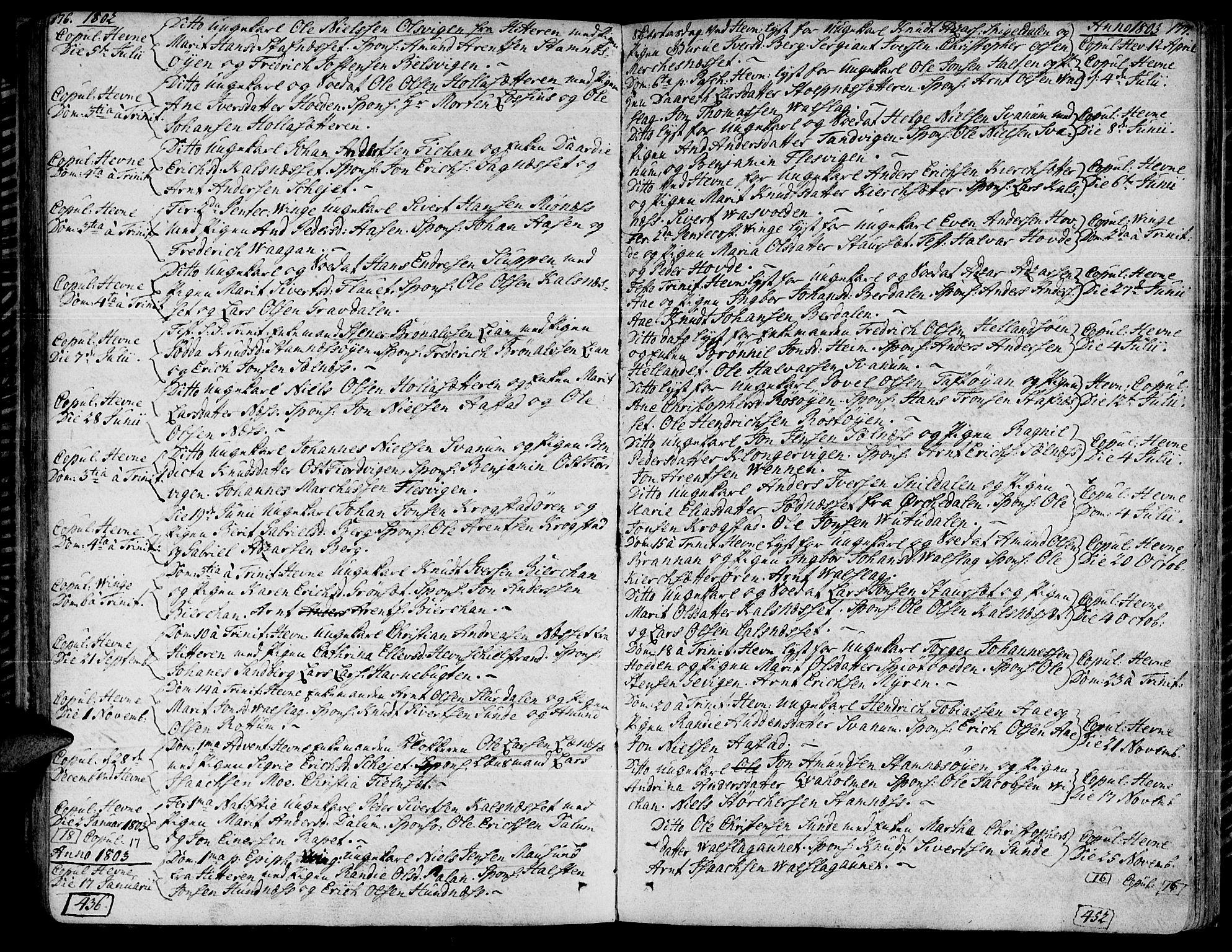 SAT, Ministerialprotokoller, klokkerbøker og fødselsregistre - Sør-Trøndelag, 630/L0490: Ministerialbok nr. 630A03, 1795-1818, s. 176-177