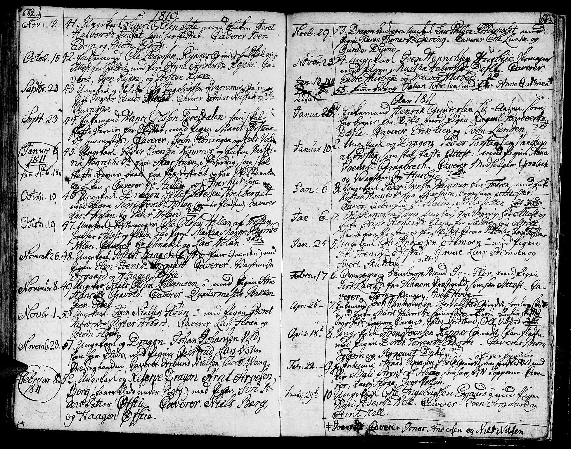 SAT, Ministerialprotokoller, klokkerbøker og fødselsregistre - Nord-Trøndelag, 709/L0060: Ministerialbok nr. 709A07, 1797-1815, s. 662-663