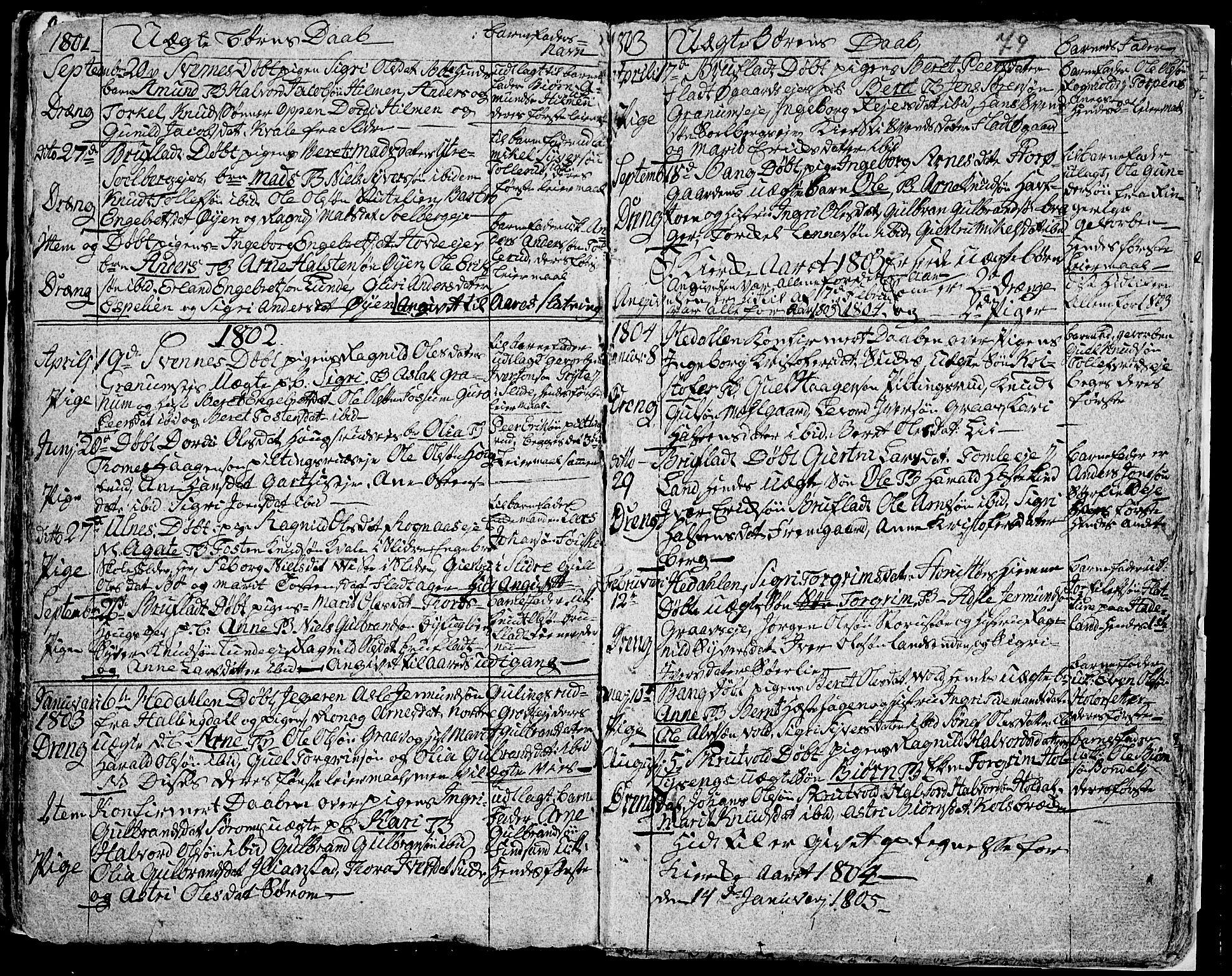 SAH, Aurdal prestekontor, Ministerialbok nr. 7, 1800-1808, s. 79