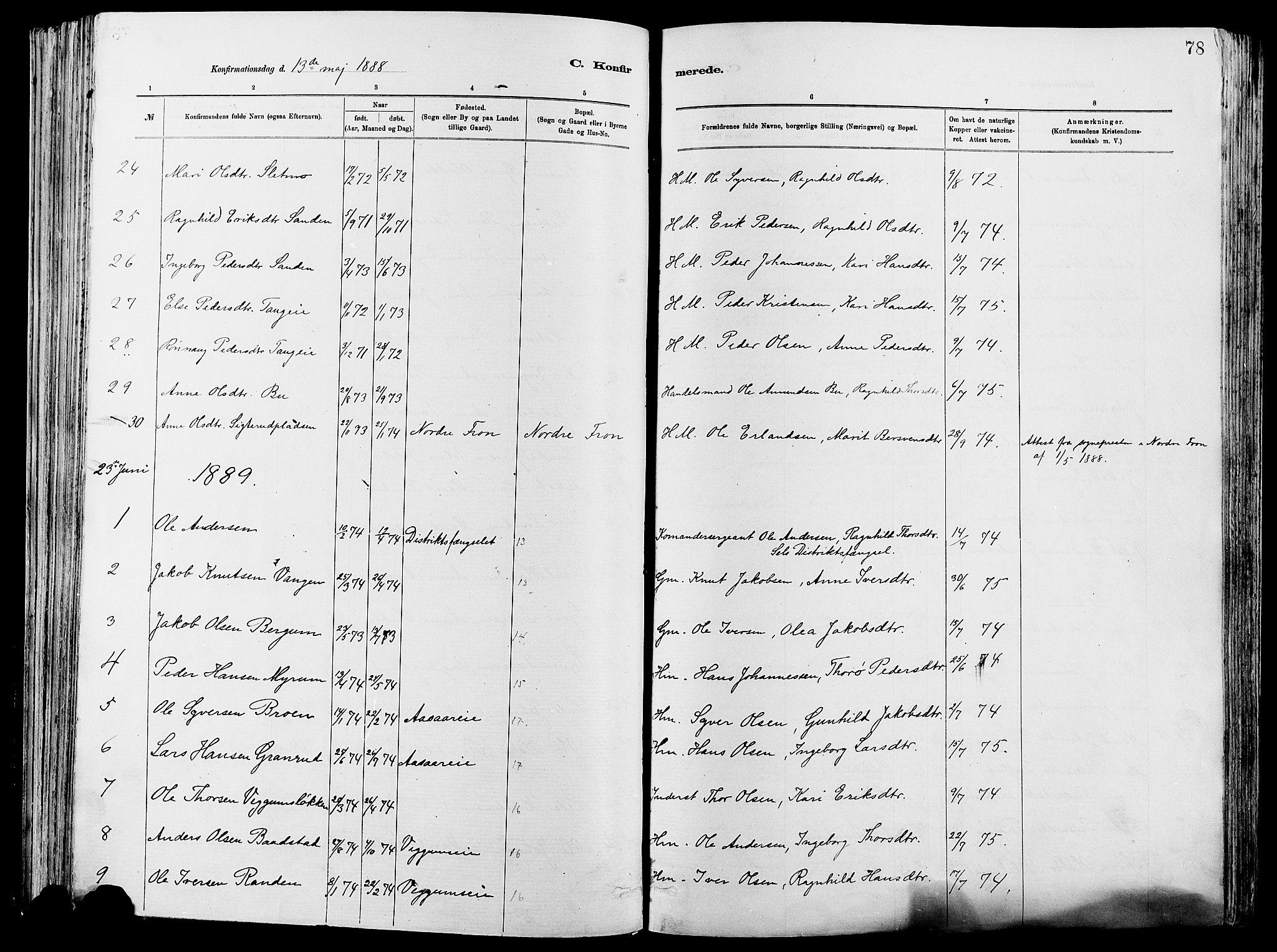 SAH, Vågå prestekontor, Ministerialbok nr. 8, 1886-1904, s. 78