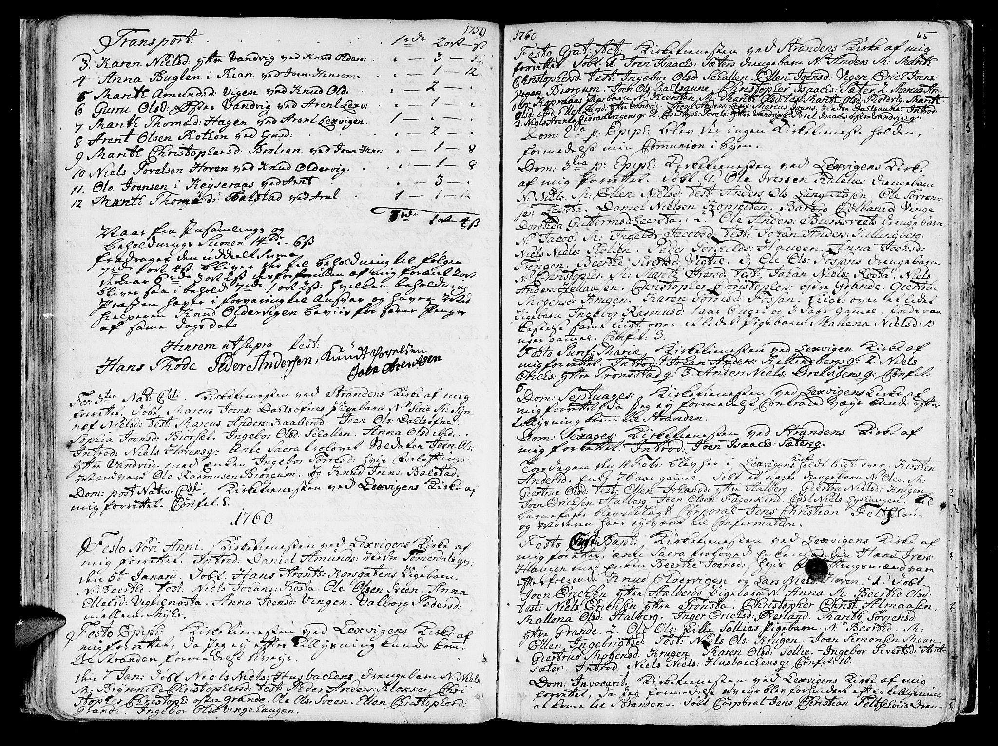 SAT, Ministerialprotokoller, klokkerbøker og fødselsregistre - Nord-Trøndelag, 701/L0003: Ministerialbok nr. 701A03, 1751-1783, s. 65