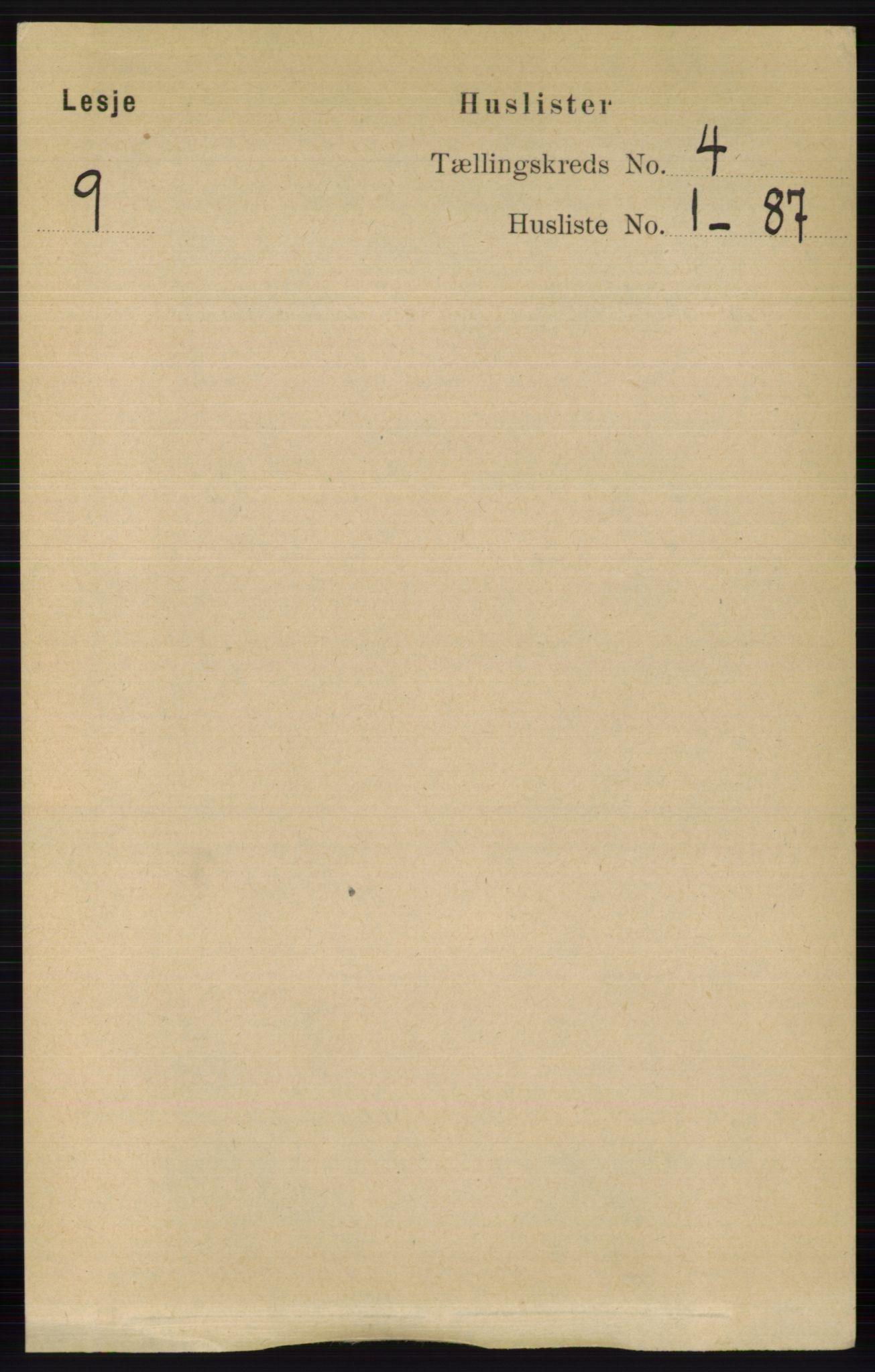 RA, Folketelling 1891 for 0512 Lesja herred, 1891, s. 1003