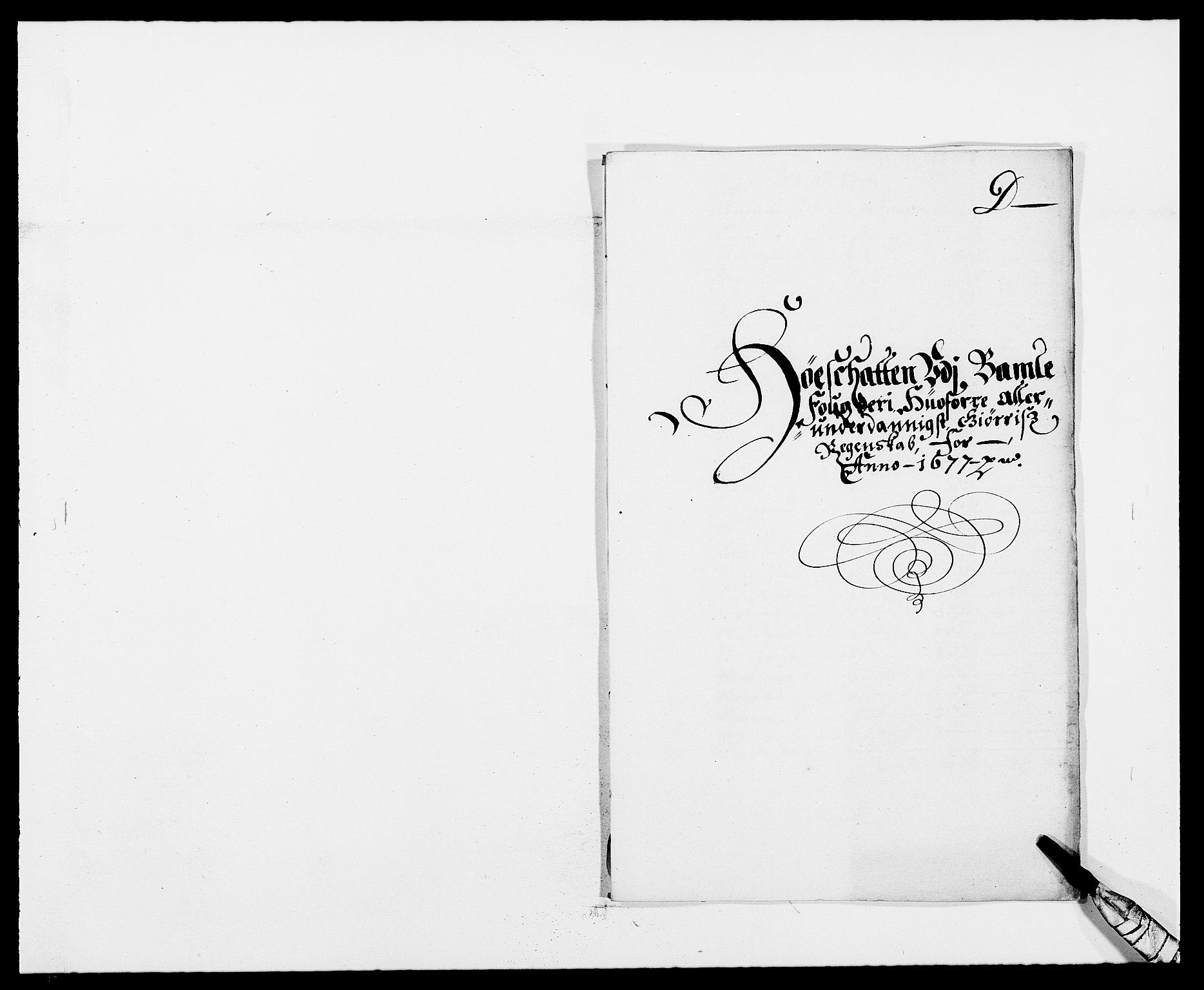 RA, Rentekammeret inntil 1814, Reviderte regnskaper, Fogderegnskap, R34/L2043: Fogderegnskap Bamble, 1676-1677, s. 323