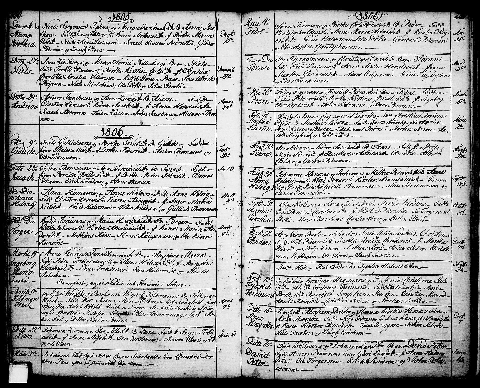 SAKO, Porsgrunn kirkebøker , F/Fa/L0001: Ministerialbok nr. 1, 1764-1814, s. 230-231