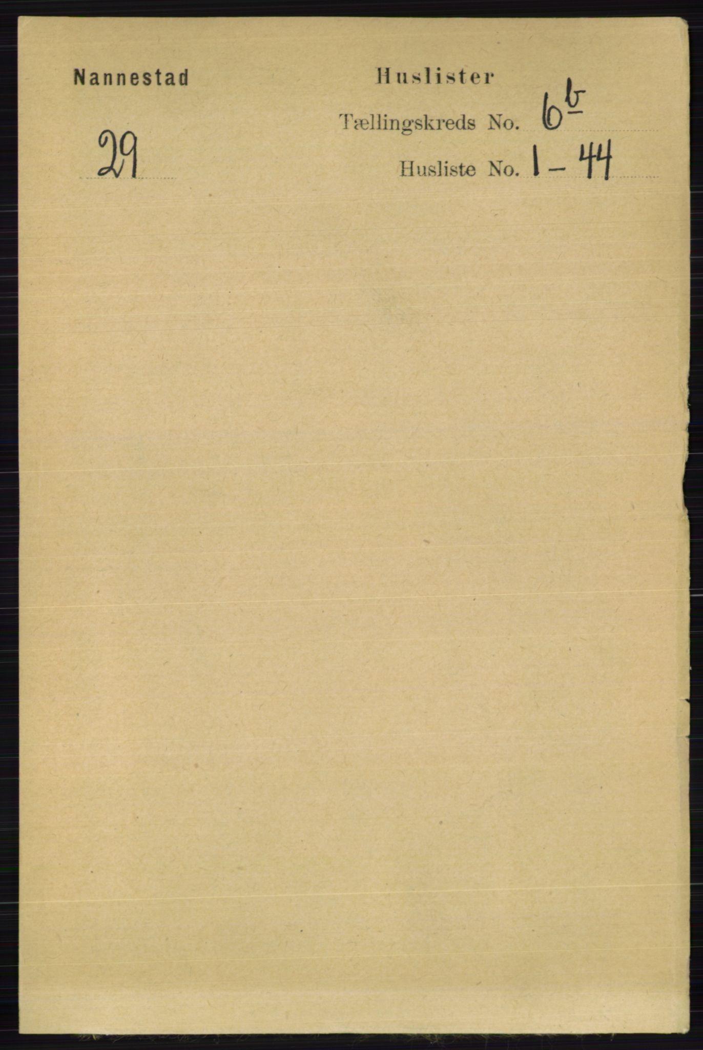 RA, Folketelling 1891 for 0238 Nannestad herred, 1891, s. 3367