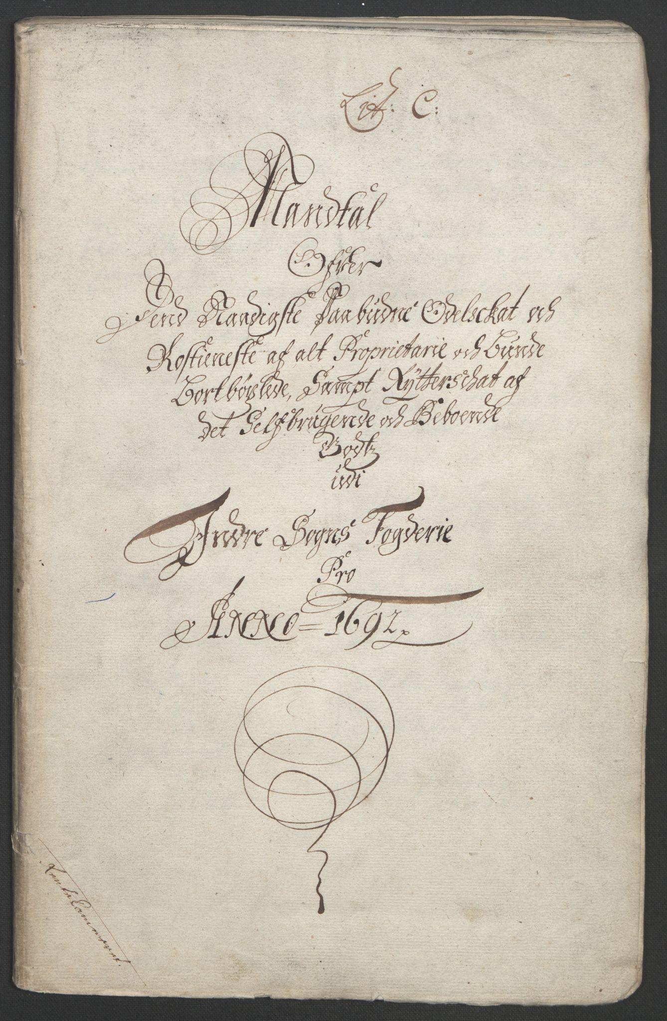 RA, Rentekammeret inntil 1814, Reviderte regnskaper, Fogderegnskap, R52/L3306: Fogderegnskap Sogn, 1691-1692, s. 155
