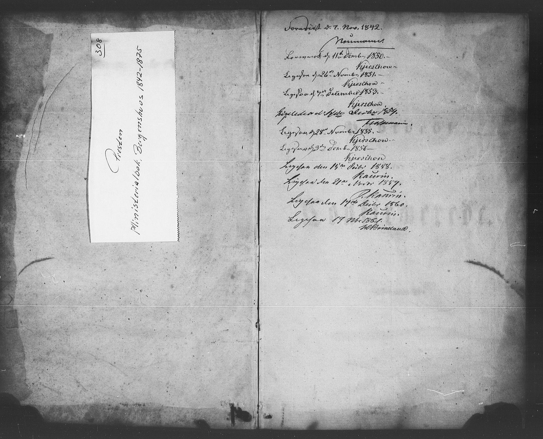 SAB, Bergenhus strafanstalts sokneprestembete*, Ministerialbok nr. A 1, 1841-1875