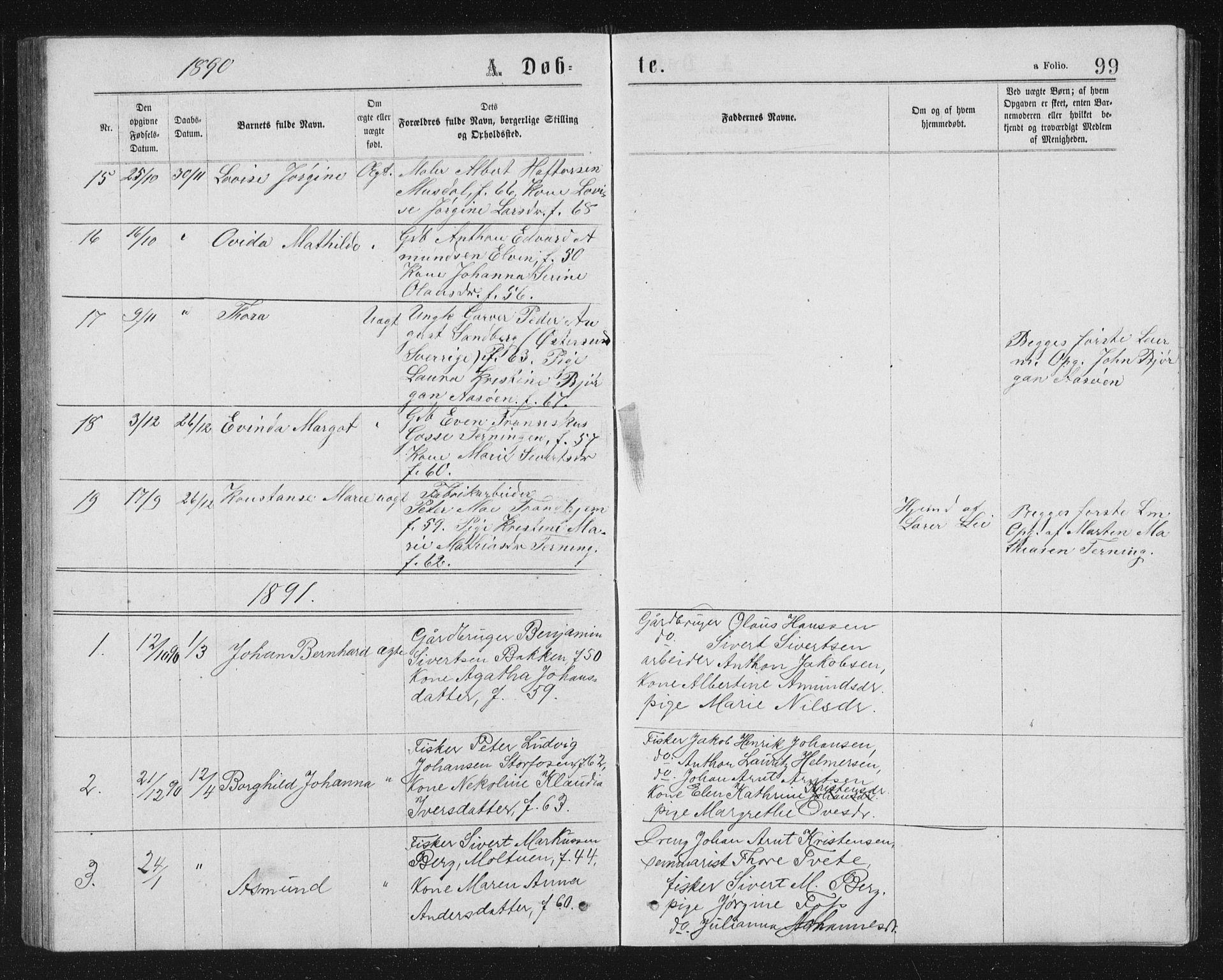 SAT, Ministerialprotokoller, klokkerbøker og fødselsregistre - Sør-Trøndelag, 662/L0756: Klokkerbok nr. 662C01, 1869-1891, s. 99