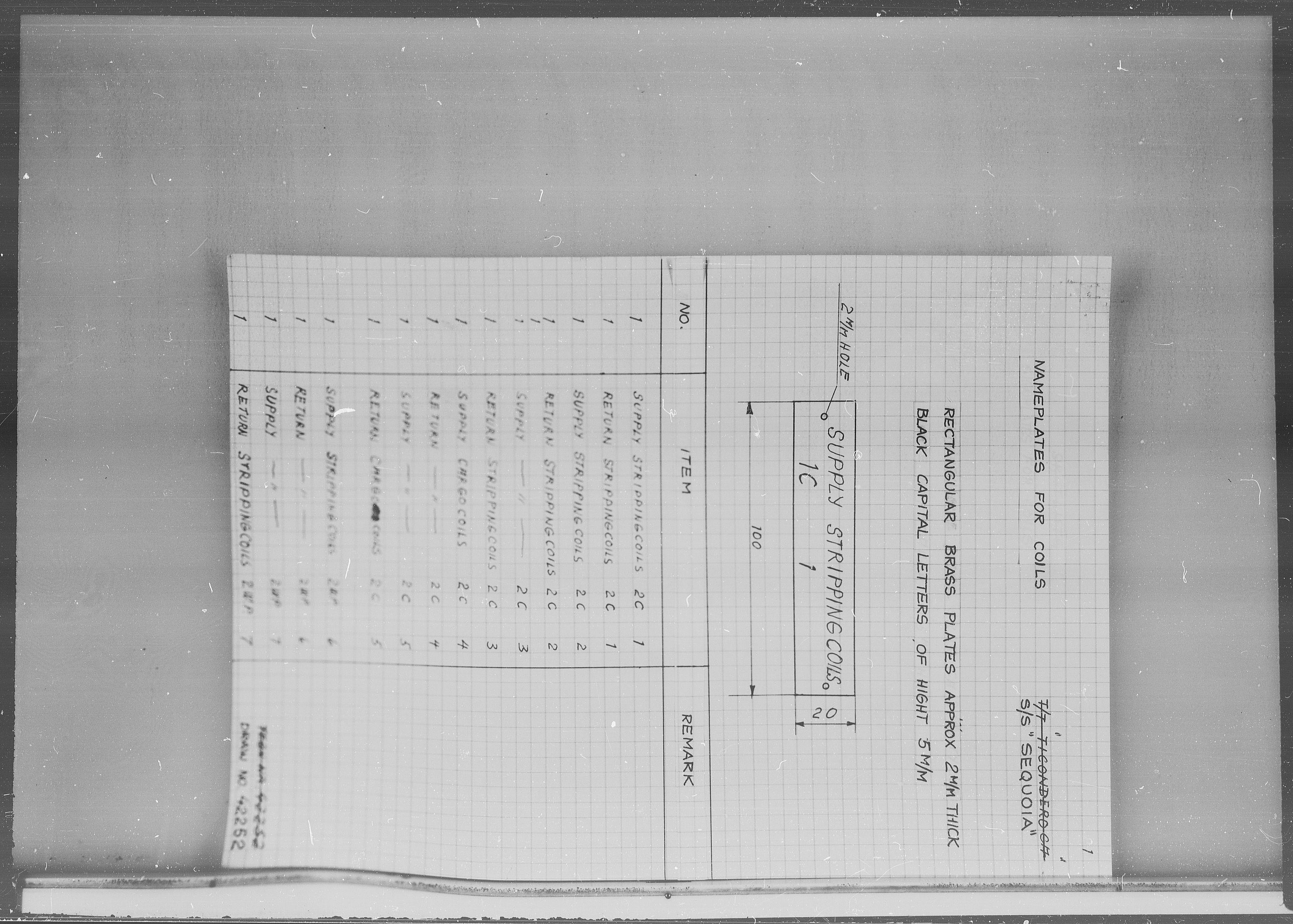 SAK, Kristiansand Mekaniske Verksted, G/Ga/L0008: 36 mm mikrofilmruller, reprofoto av skipstegninger, byggenr. 222-229, s. 2