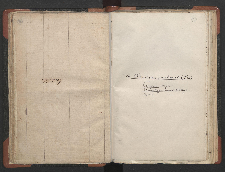 RA, Sogneprestenes manntall 1664-1666, nr. 11: Brunlanes prosti, 1664-1666, s. 96-97
