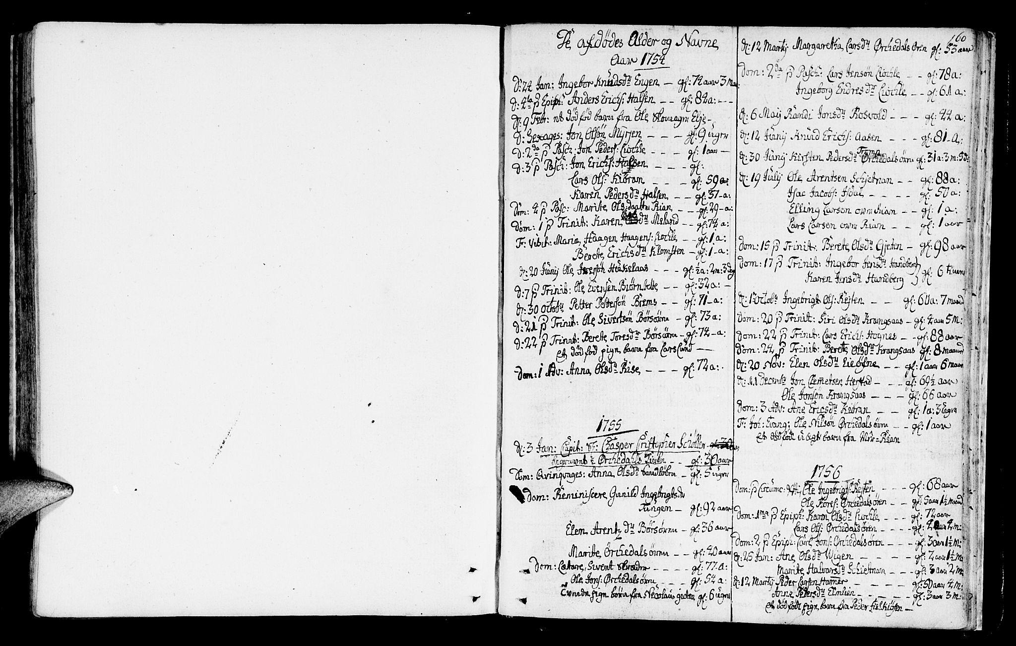 SAT, Ministerialprotokoller, klokkerbøker og fødselsregistre - Sør-Trøndelag, 665/L0768: Ministerialbok nr. 665A03, 1754-1803, s. 160