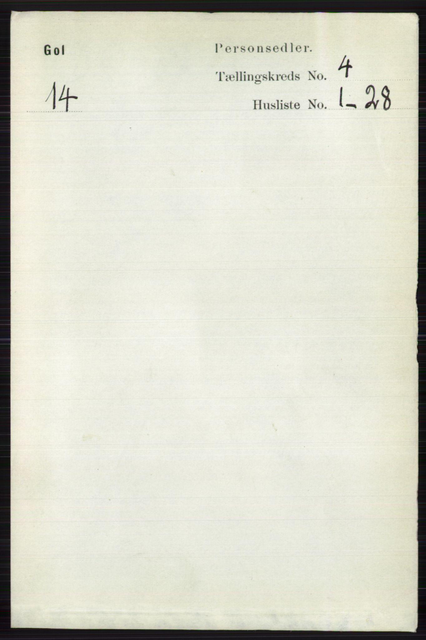 RA, Folketelling 1891 for 0617 Gol og Hemsedal herred, 1891, s. 1817