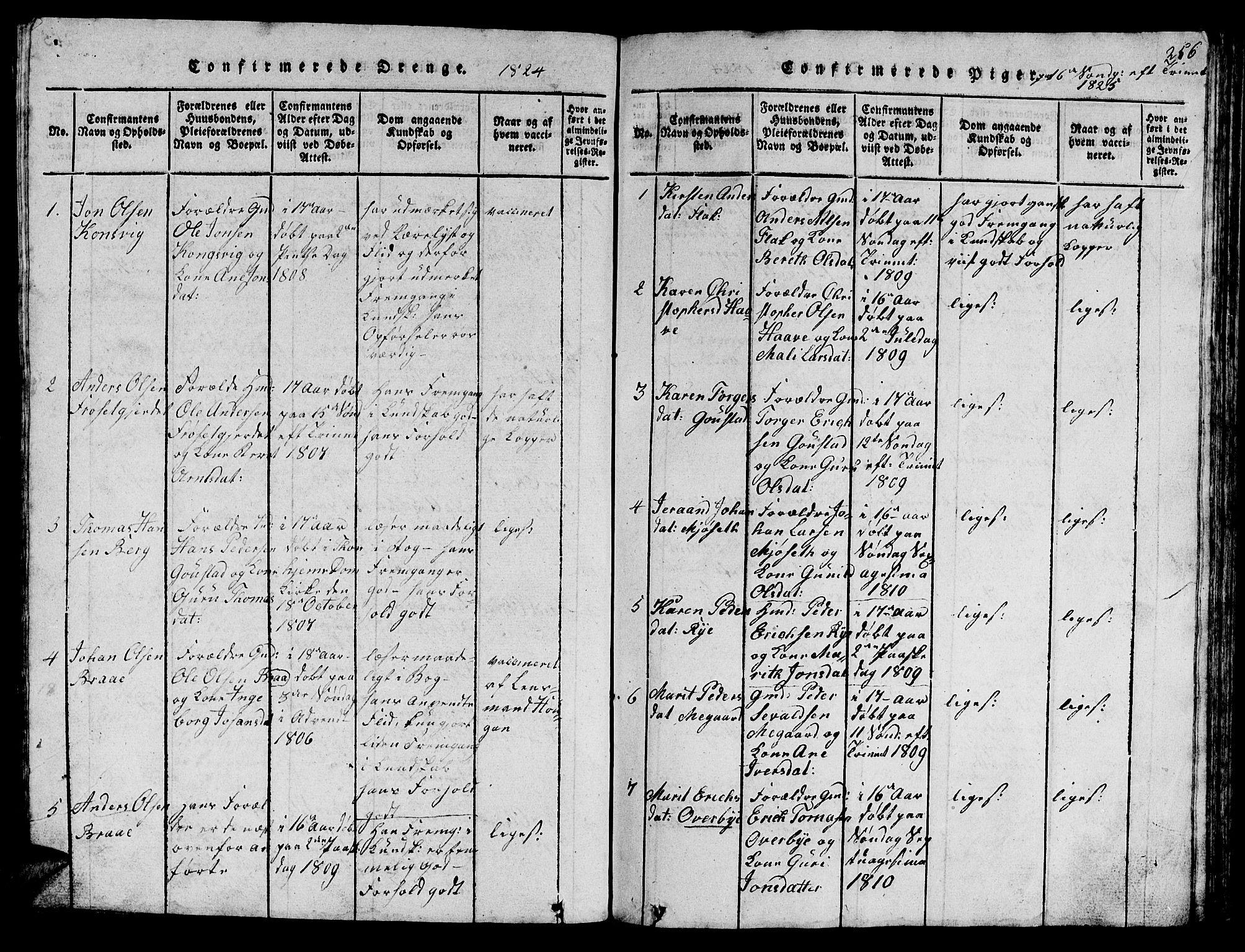 SAT, Ministerialprotokoller, klokkerbøker og fødselsregistre - Sør-Trøndelag, 612/L0385: Klokkerbok nr. 612C01, 1816-1845, s. 256
