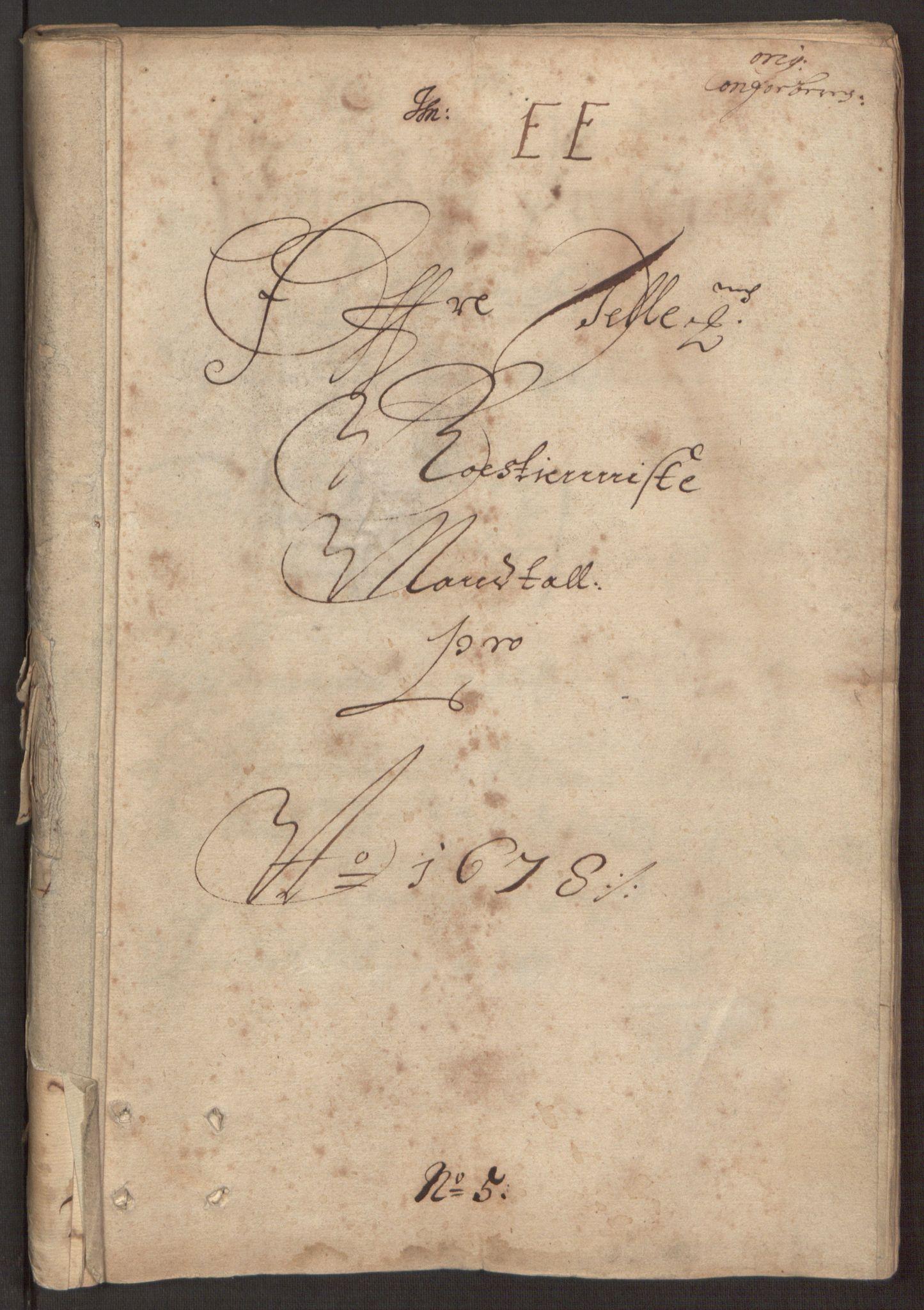 RA, Rentekammeret inntil 1814, Reviderte regnskaper, Fogderegnskap, R35/L2070: Fogderegnskap Øvre og Nedre Telemark, 1678, s. 165