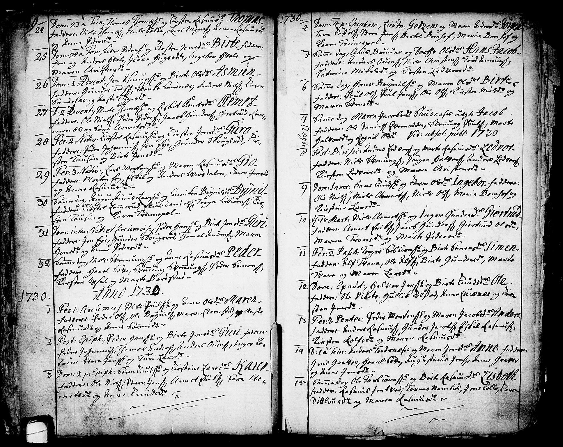 SAKO, Holla kirkebøker, F/Fa/L0001: Ministerialbok nr. 1, 1717-1779, s. 17