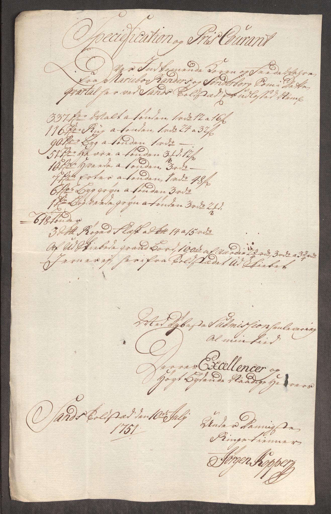 RA, Rentekammeret inntil 1814, Realistisk ordnet avdeling, Oe/L0004: [Ø1]: Priskuranter, 1749-1752, s. 531