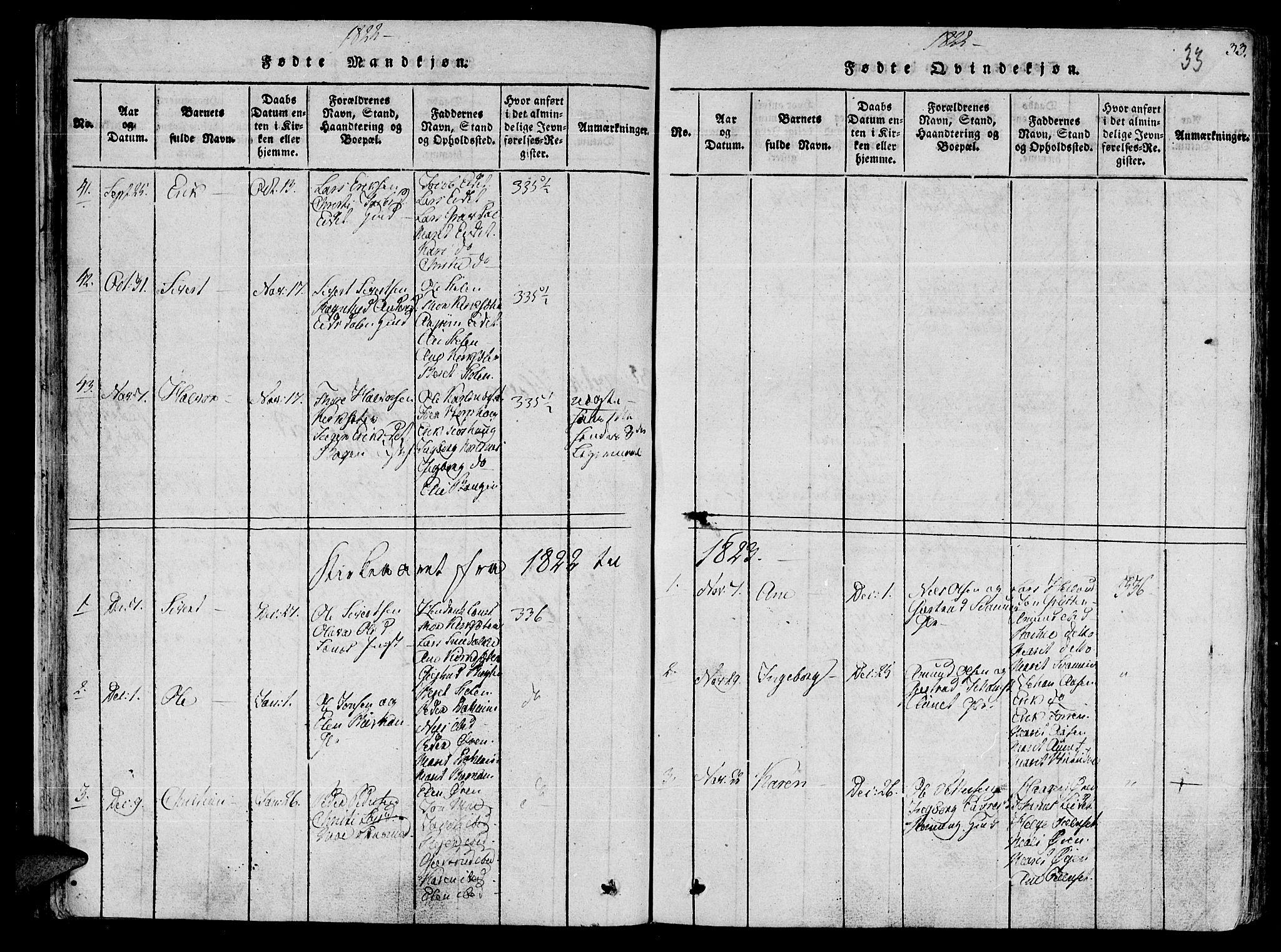 SAT, Ministerialprotokoller, klokkerbøker og fødselsregistre - Sør-Trøndelag, 630/L0491: Ministerialbok nr. 630A04, 1818-1830, s. 33