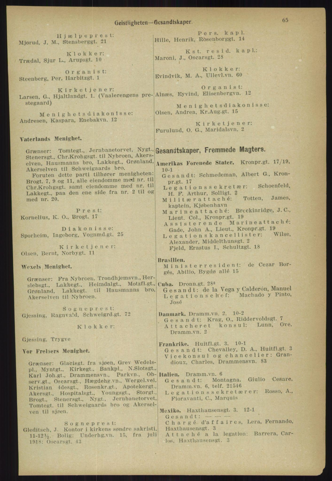 PUBL, Kristiania/Oslo adressebok, 1918, s. 72