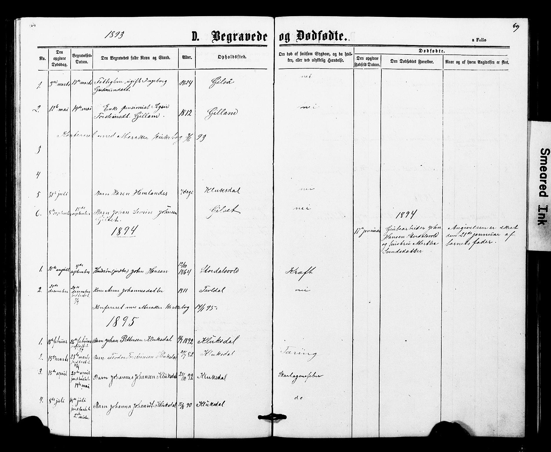 SAT, Ministerialprotokoller, klokkerbøker og fødselsregistre - Nord-Trøndelag, 707/L0052: Klokkerbok nr. 707C01, 1864-1897, s. 69