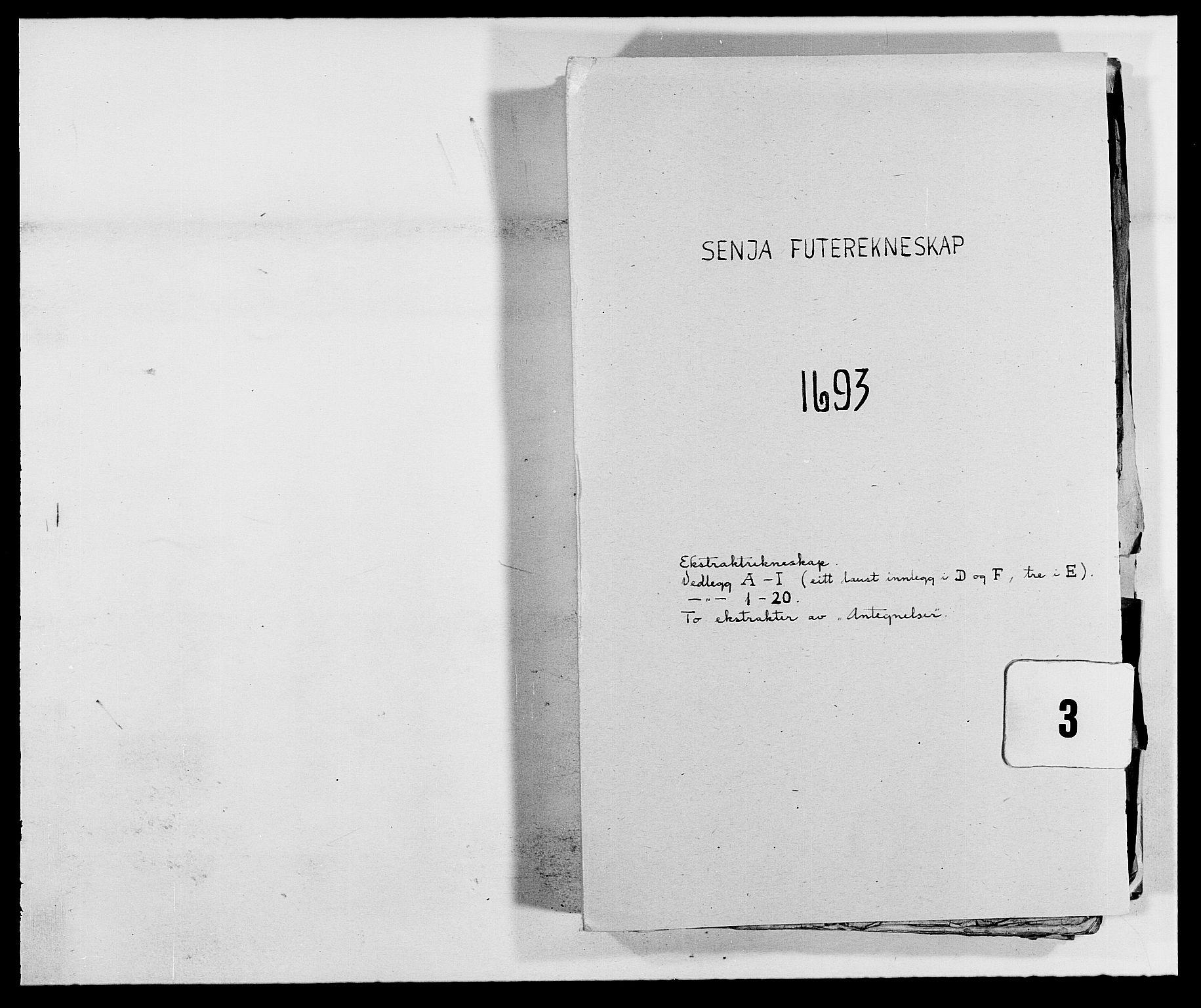 RA, Rentekammeret inntil 1814, Reviderte regnskaper, Fogderegnskap, R68/L4752: Fogderegnskap Senja og Troms, 1691-1693, s. 324