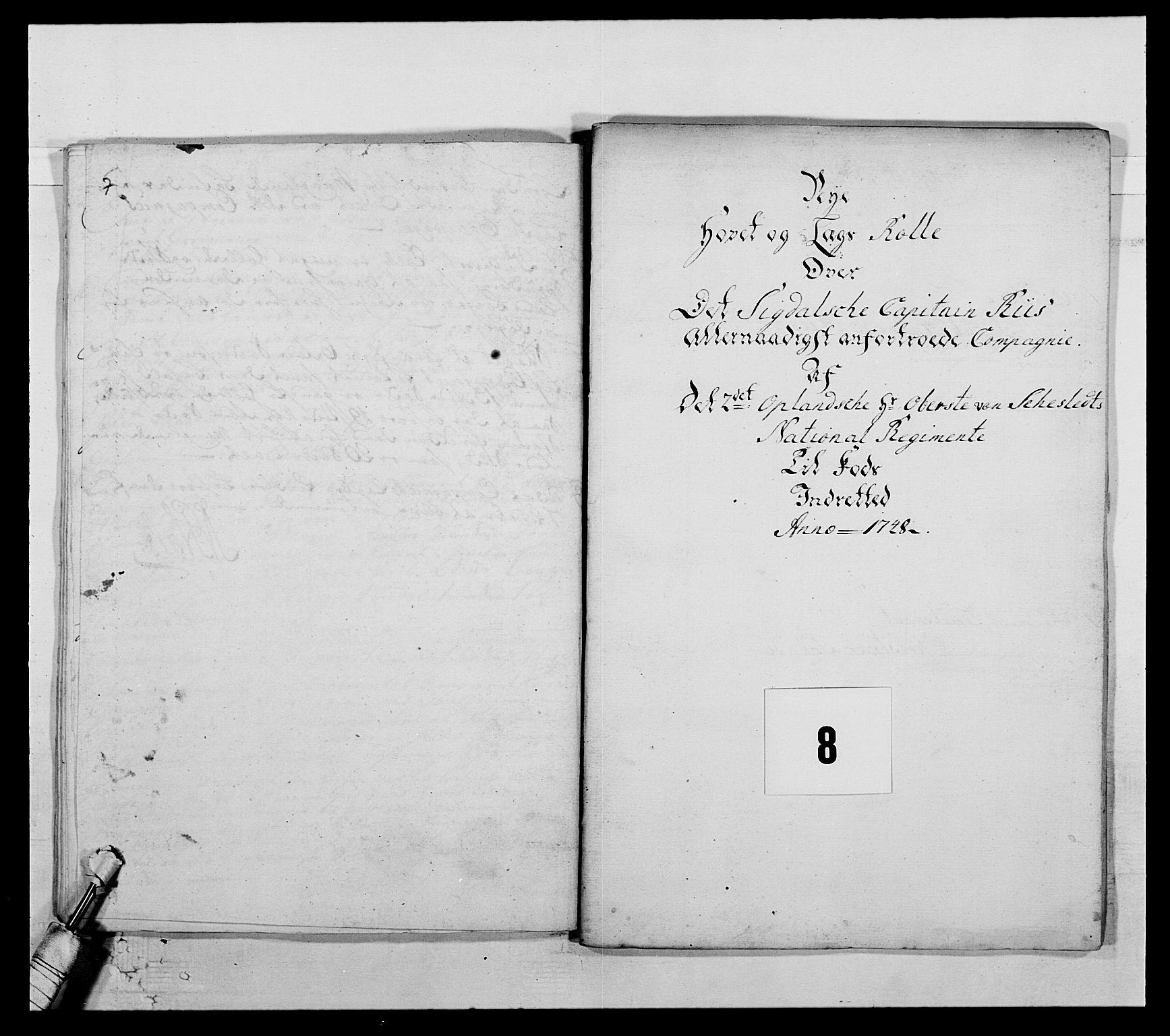 RA, Kommanderende general (KG I) med Det norske krigsdirektorium, E/Ea/L0505: 2. Opplandske regiment, 1748, s. 217