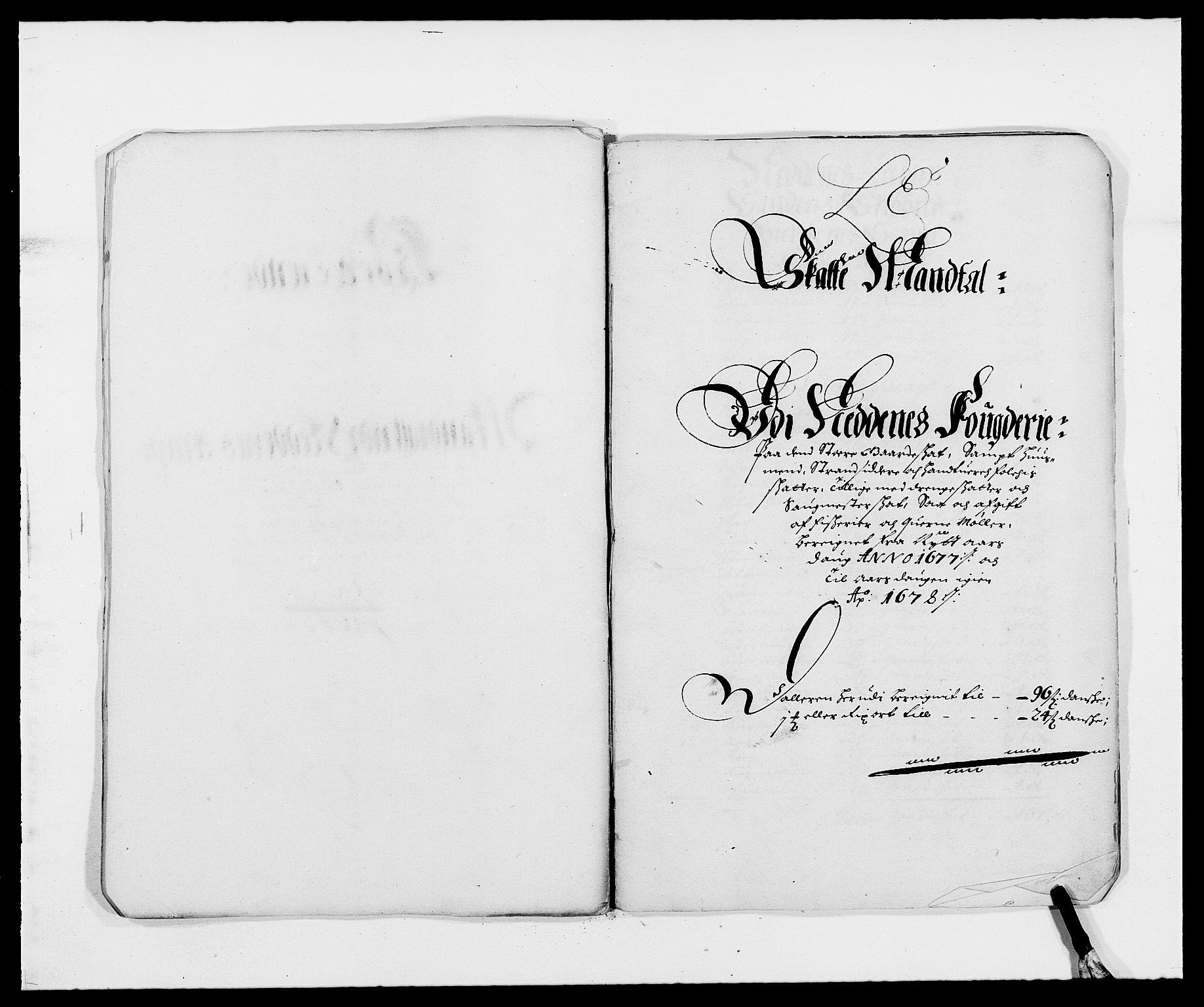 RA, Rentekammeret inntil 1814, Reviderte regnskaper, Fogderegnskap, R39/L2302: Fogderegnskap Nedenes, 1677-1678, s. 108
