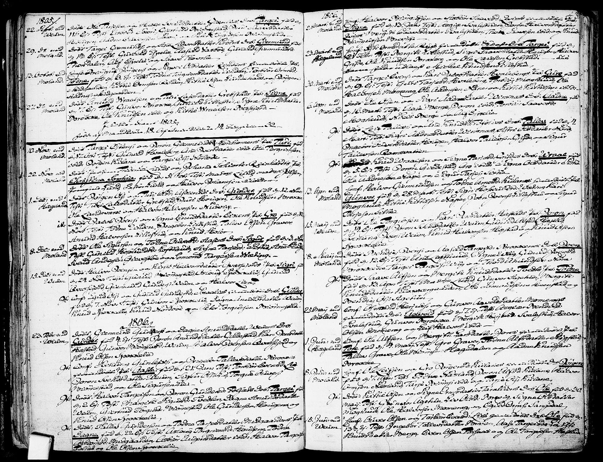 SAKO, Fyresdal kirkebøker, F/Fa/L0002: Ministerialbok nr. I 2, 1769-1814, s. 43