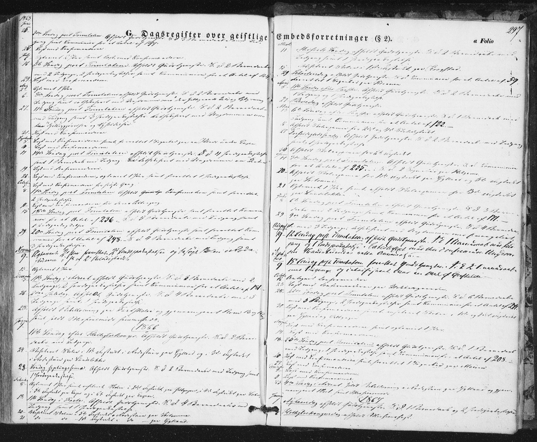 SAT, Ministerialprotokoller, klokkerbøker og fødselsregistre - Sør-Trøndelag, 692/L1103: Ministerialbok nr. 692A03, 1849-1870, s. 297