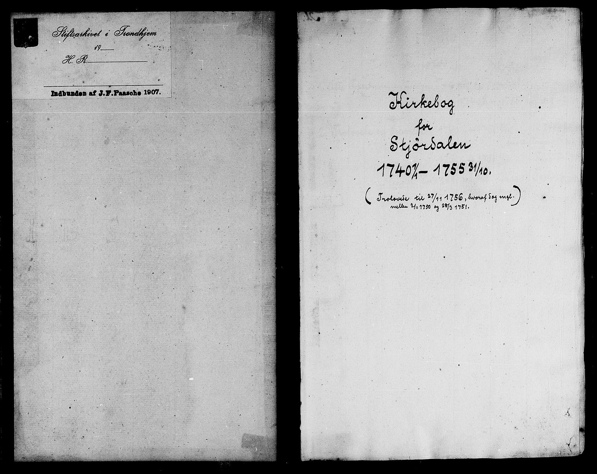 SAT, Ministerialprotokoller, klokkerbøker og fødselsregistre - Nord-Trøndelag, 709/L0056: Ministerialbok nr. 709A04, 1740-1756