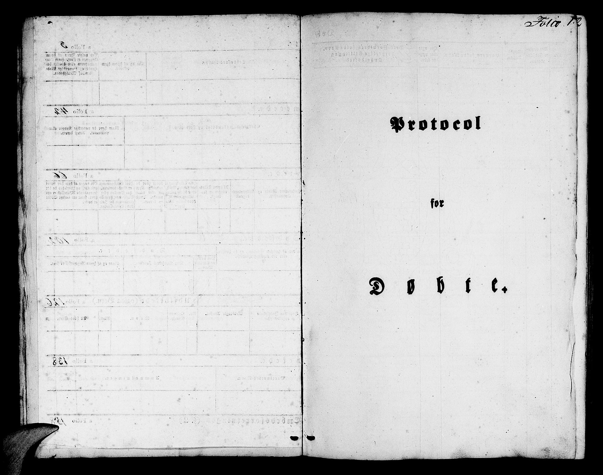 SAB, Mariakirken Sokneprestembete, H/Hab/L0002: Klokkerbok nr. A 2, 1846-1862, s. 1