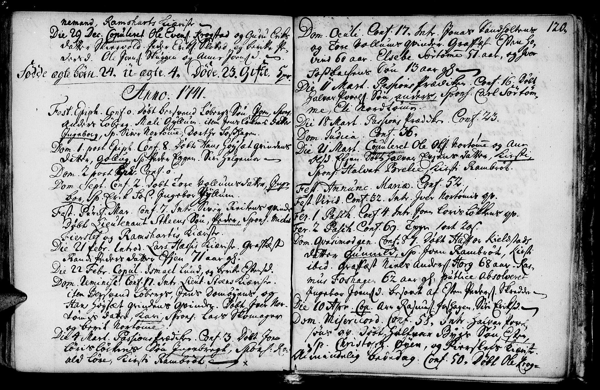 SAT, Ministerialprotokoller, klokkerbøker og fødselsregistre - Sør-Trøndelag, 692/L1101: Ministerialbok nr. 692A01, 1690-1746, s. 120