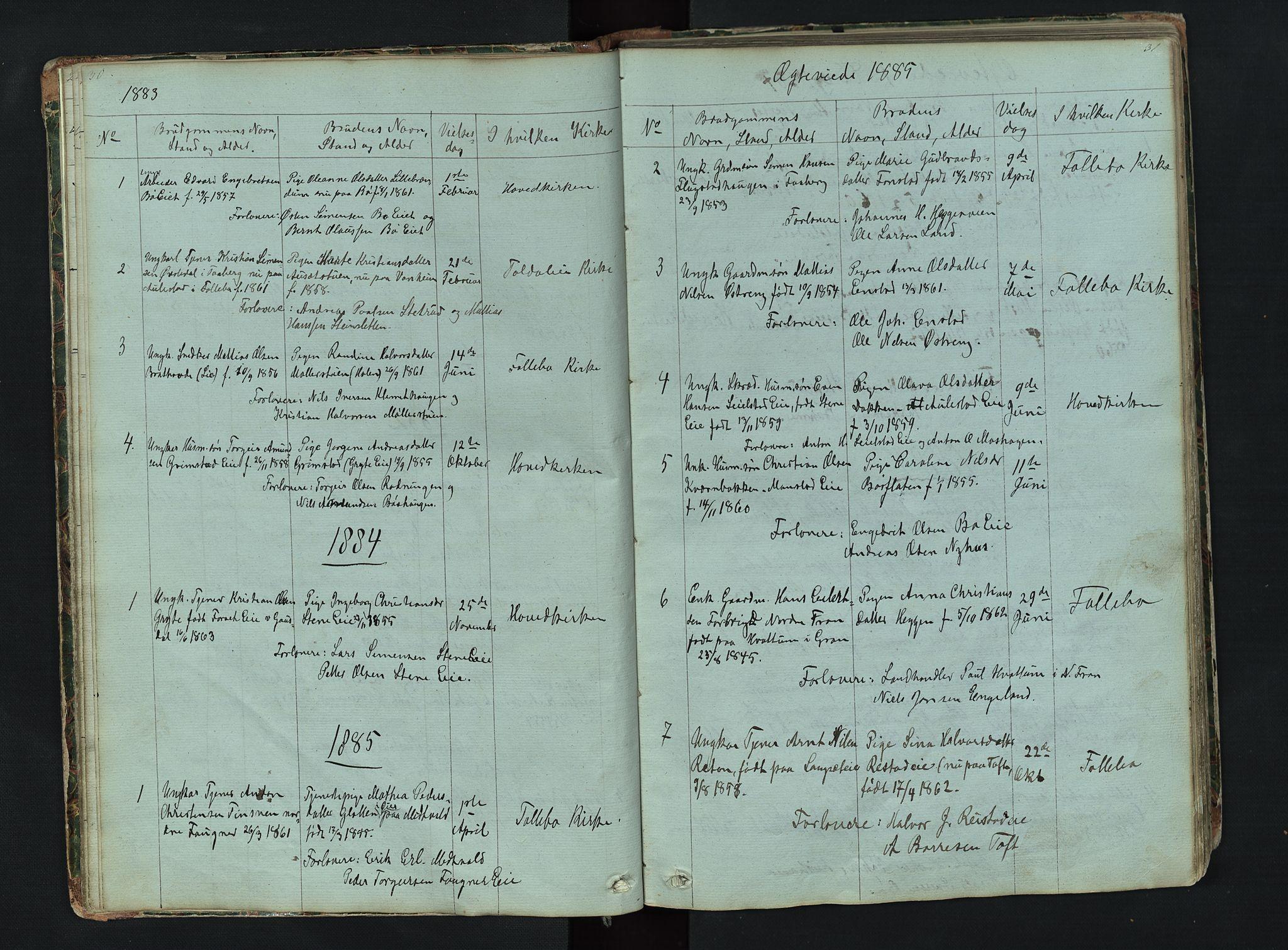 SAH, Gausdal prestekontor, Klokkerbok nr. 6, 1846-1893, s. 30-31