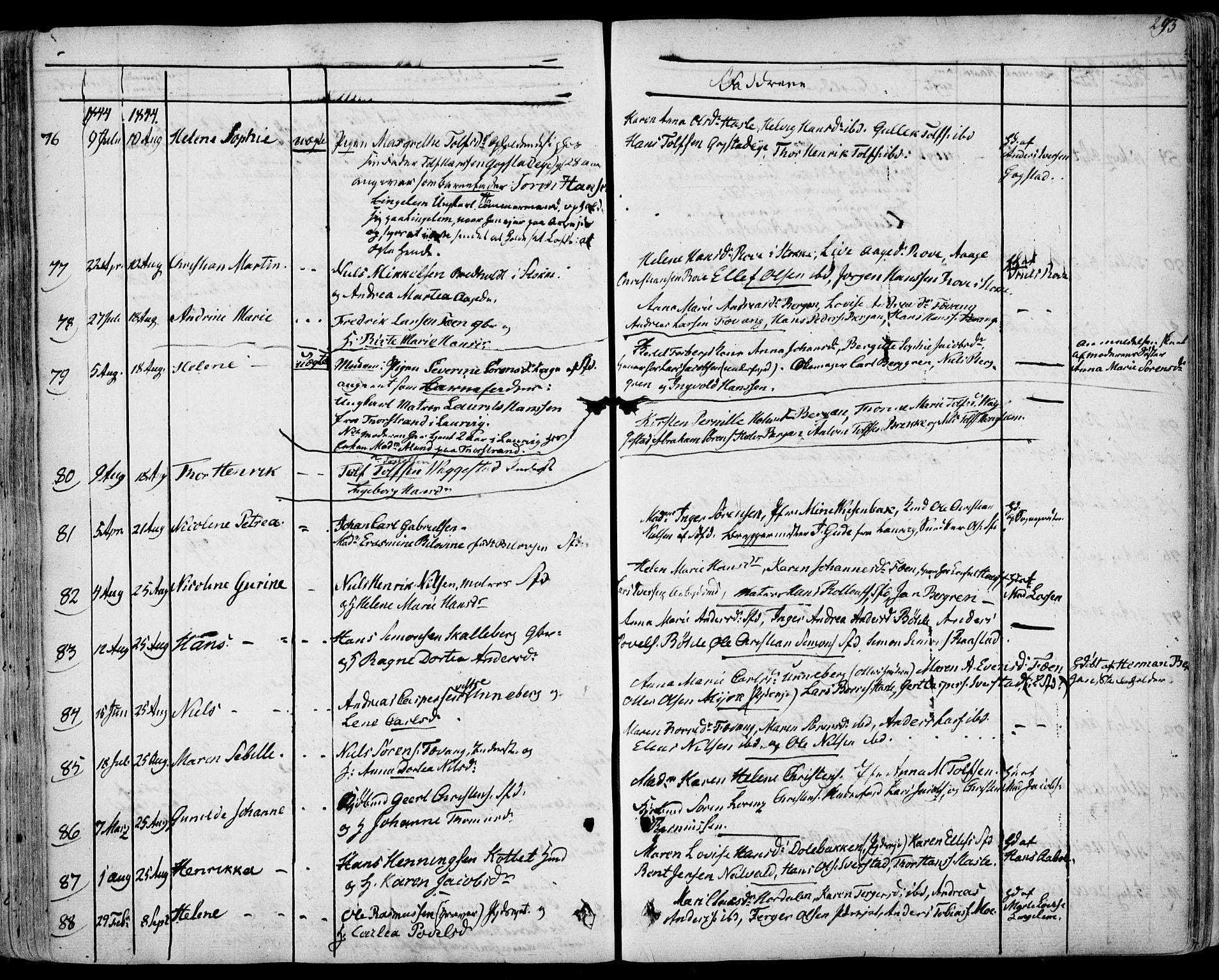 SAKO, Sandar kirkebøker, F/Fa/L0005: Ministerialbok nr. 5, 1832-1847, s. 272-273