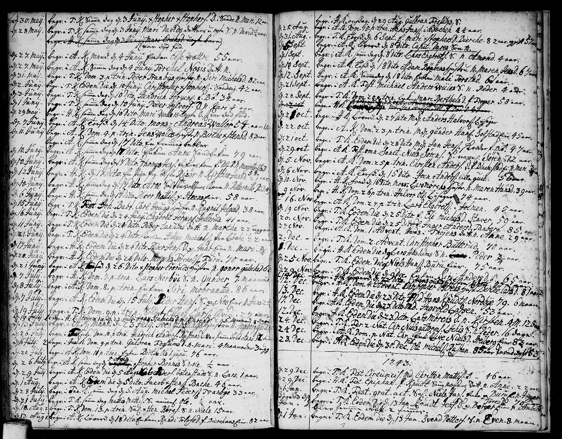 SAO, Asker prestekontor Kirkebøker, F/Fa/L0001: Ministerialbok nr. I 1, 1726-1744, s. 110