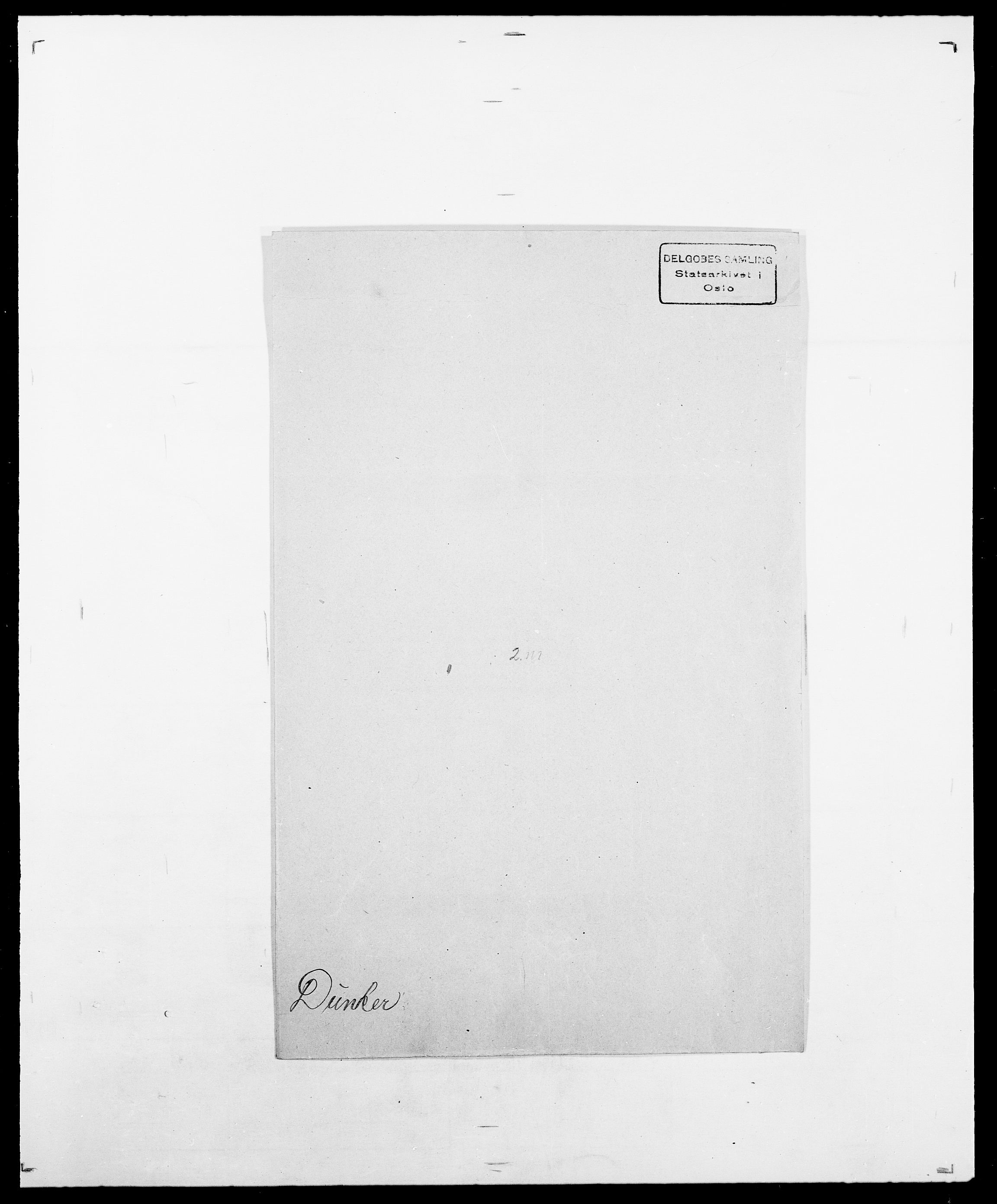 SAO, Delgobe, Charles Antoine - samling, D/Da/L0009: Dahl - v. Düren, s. 842