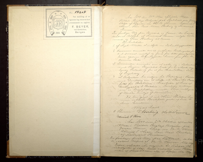IKAH, Røldal skoglags bestyrelse, A/Aa/L0001: Forhandlingsprotokoll, 1899-1911, s. 2
