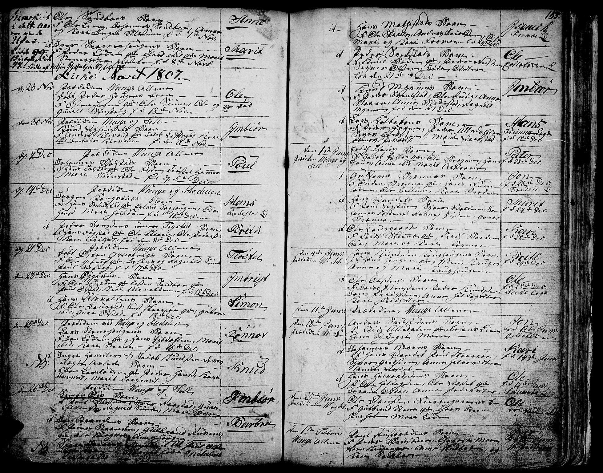 SAH, Vågå prestekontor, Ministerialbok nr. 1, 1739-1810, s. 155