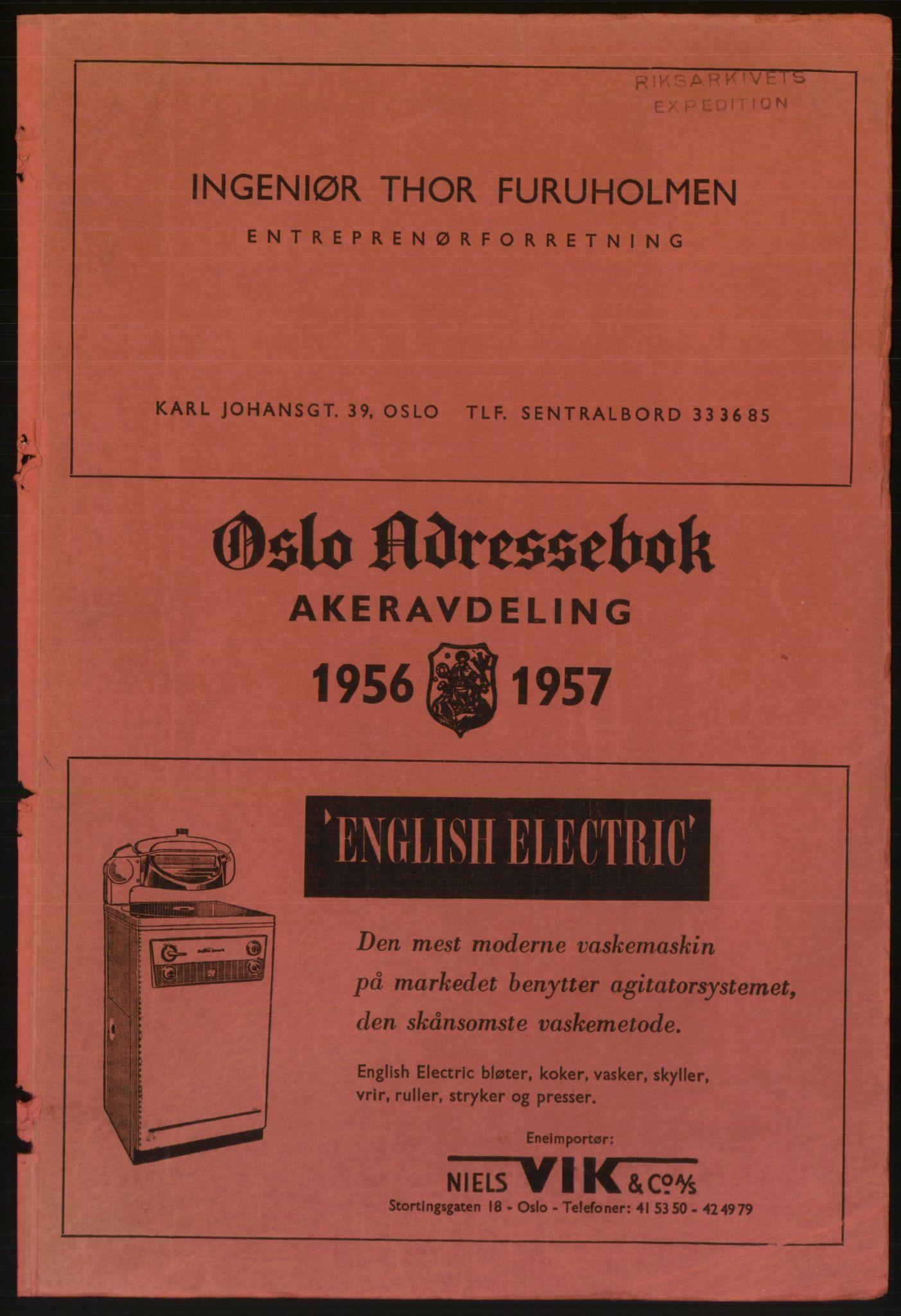 PUBL, Kristiania/Oslo adressebok, 1956-1957
