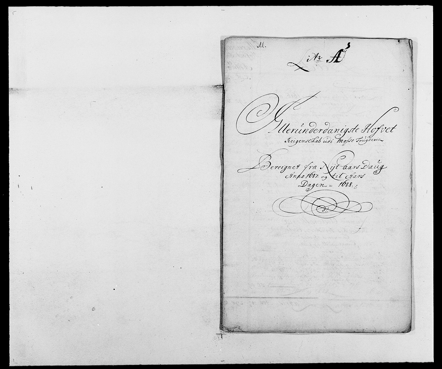 RA, Rentekammeret inntil 1814, Reviderte regnskaper, Fogderegnskap, R02/L0105: Fogderegnskap Moss og Verne kloster, 1685-1687, s. 263