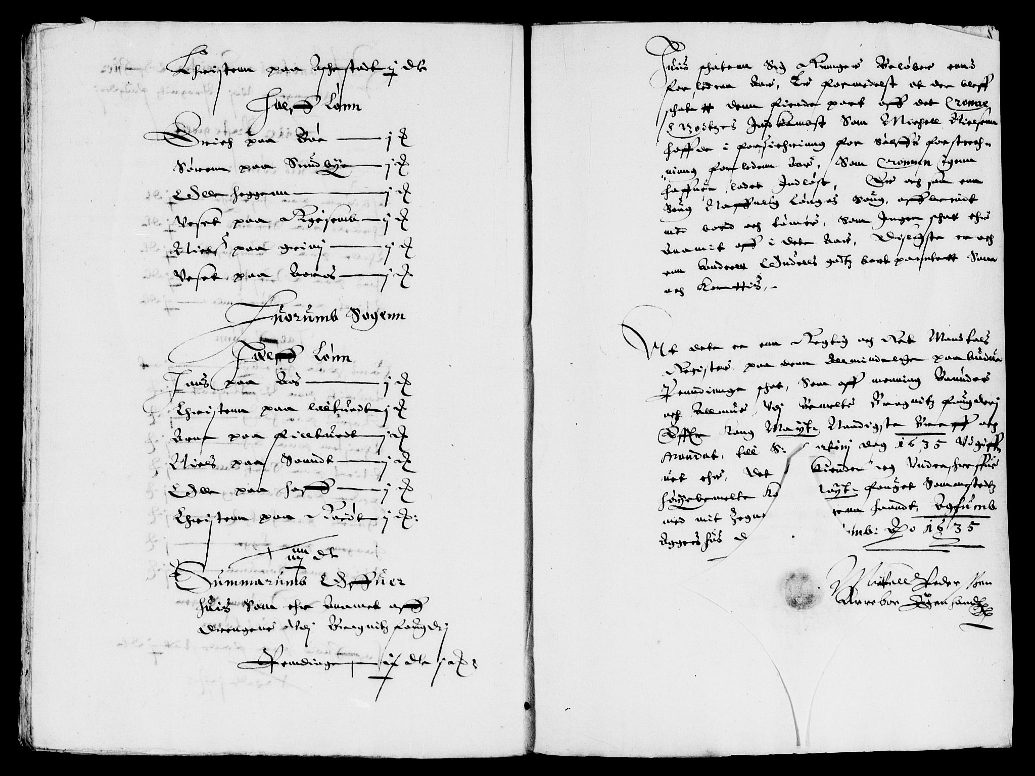 RA, Rentekammeret inntil 1814, Reviderte regnskaper, Lensregnskaper, R/Rb/Rba/L0123: Akershus len, 1635-1636, s. upaginert