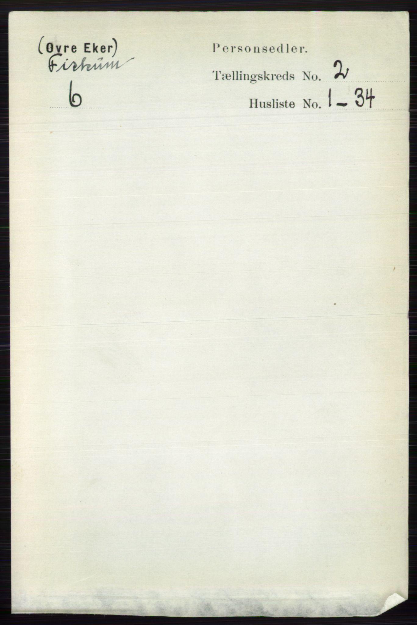 RA, Folketelling 1891 for 0624 Øvre Eiker herred, 1891, s. 8474