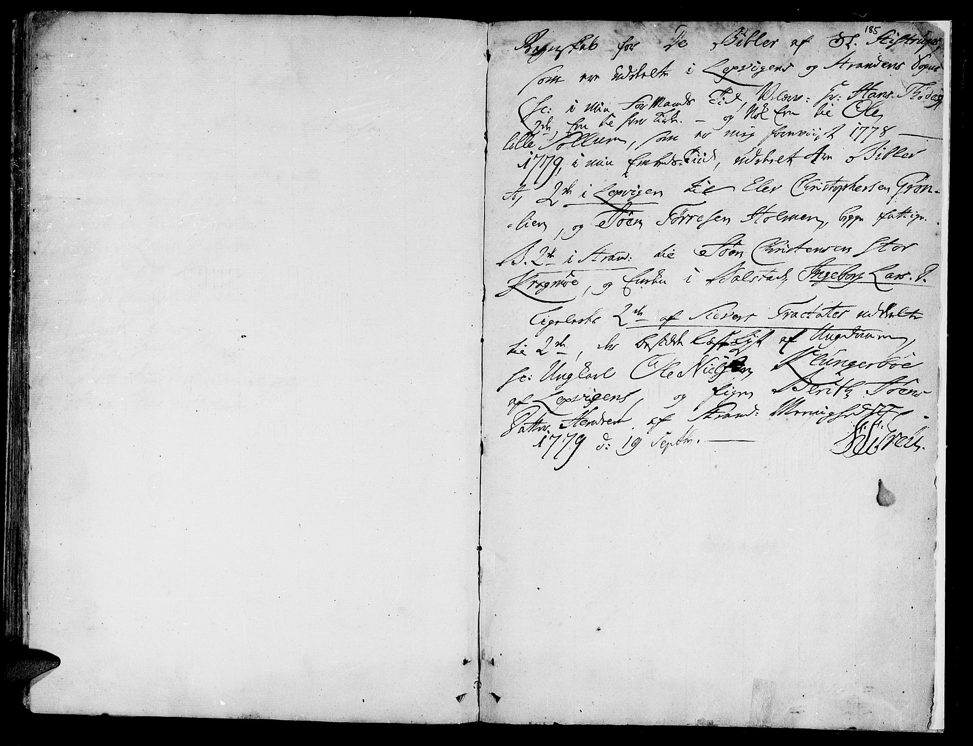SAT, Ministerialprotokoller, klokkerbøker og fødselsregistre - Nord-Trøndelag, 701/L0003: Ministerialbok nr. 701A03, 1751-1783, s. 185